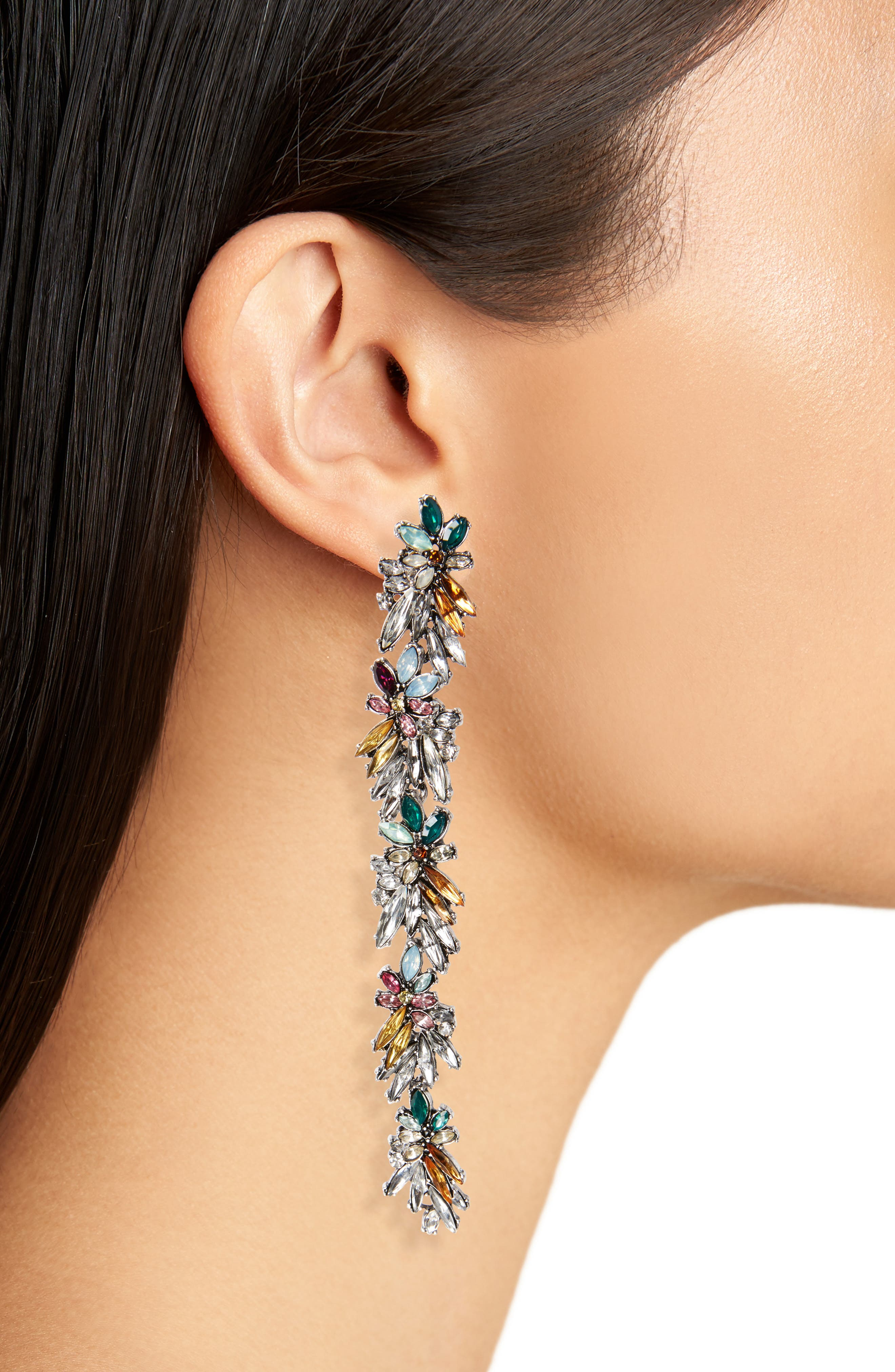 Alternate Image 2  - Cara Floral Drop Earrings