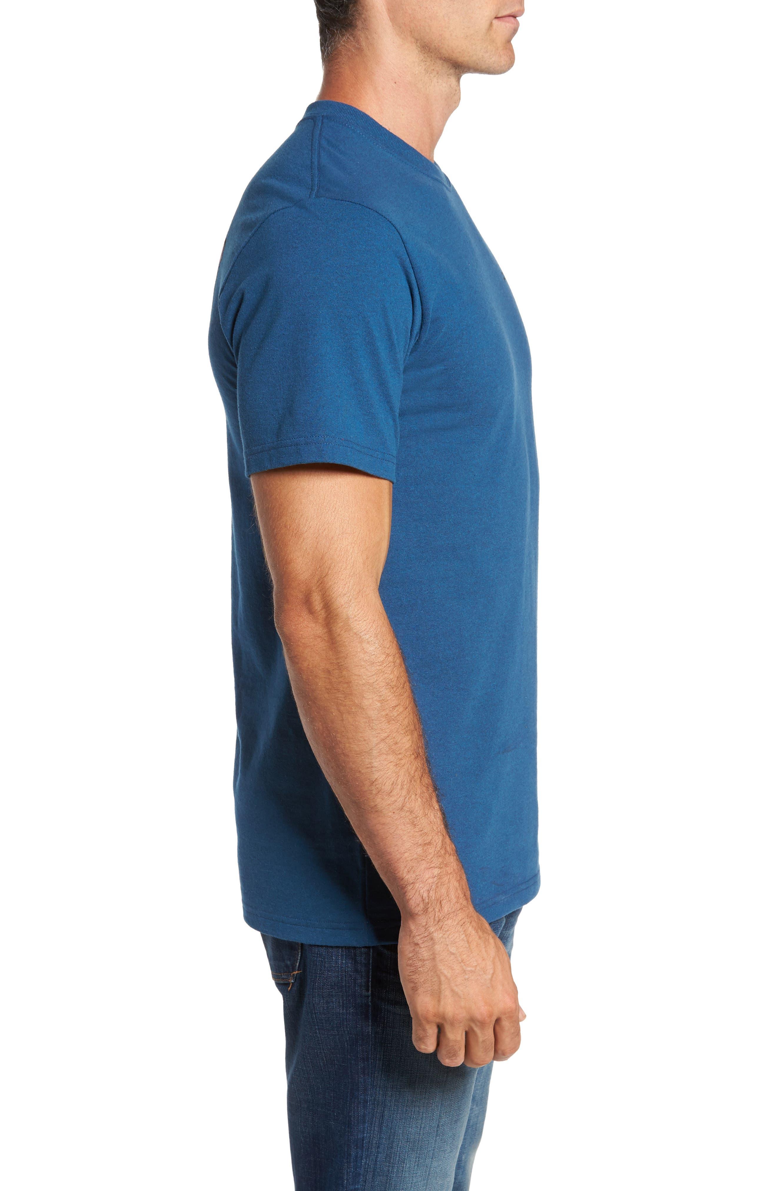 Line Regular Fit Logo T-Shirt,                             Alternate thumbnail 3, color,                             Glass Blue