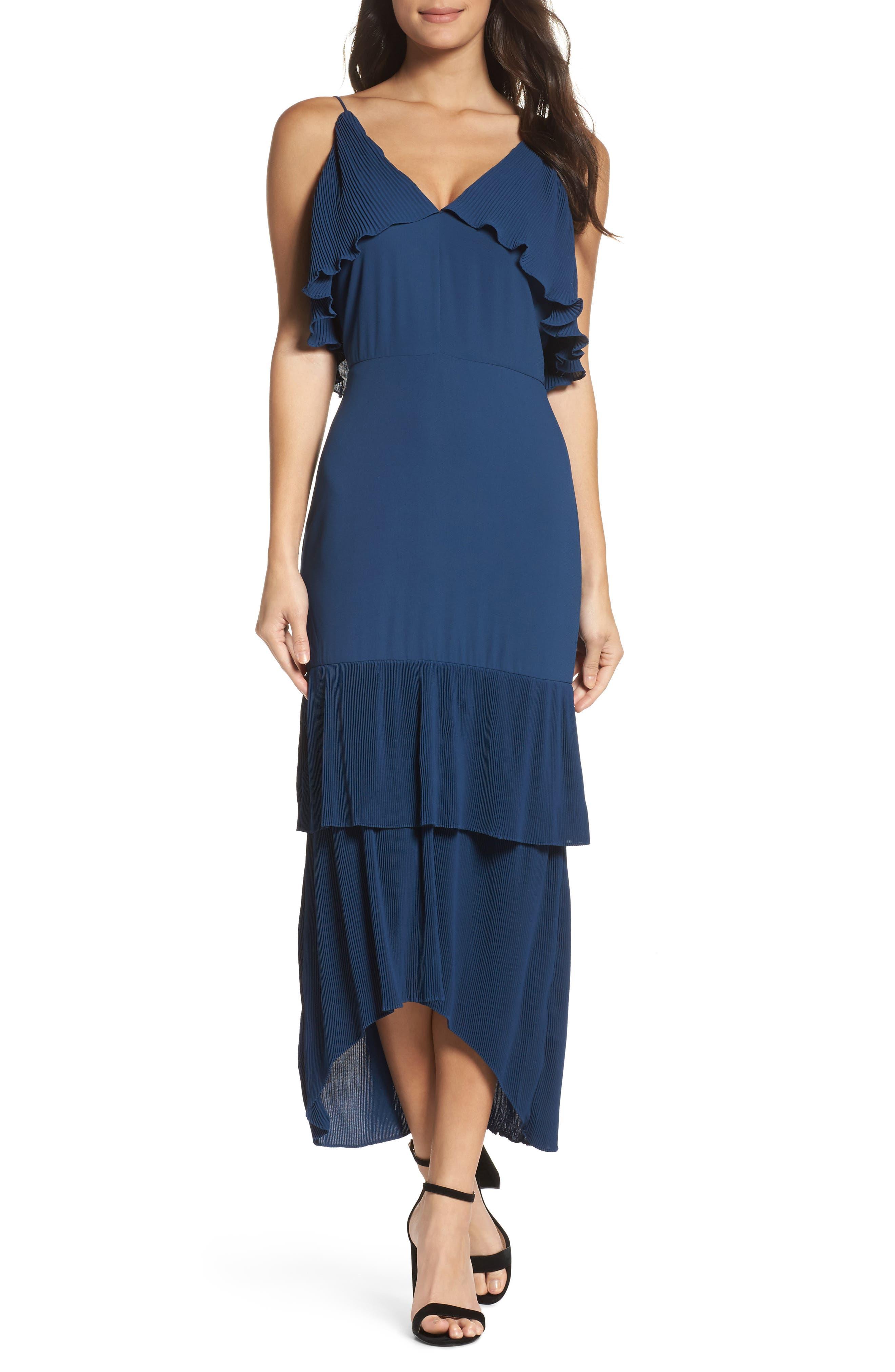 Alternate Image 1 Selected - Cooper St Kate Pleated Ruffle Midi Dress