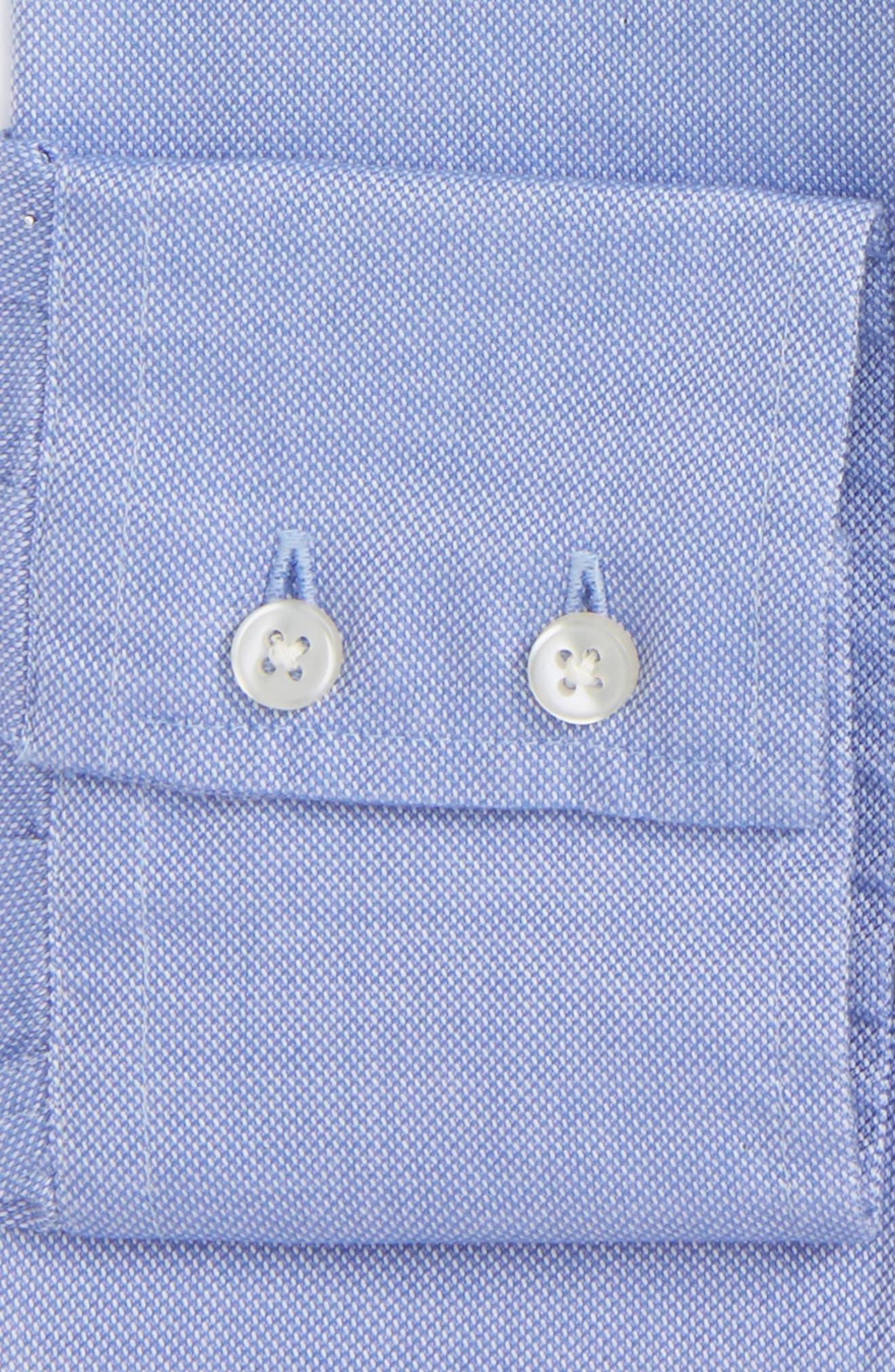 Trim Fit Oxford Dress Shirt,                             Alternate thumbnail 2, color,                             Blue
