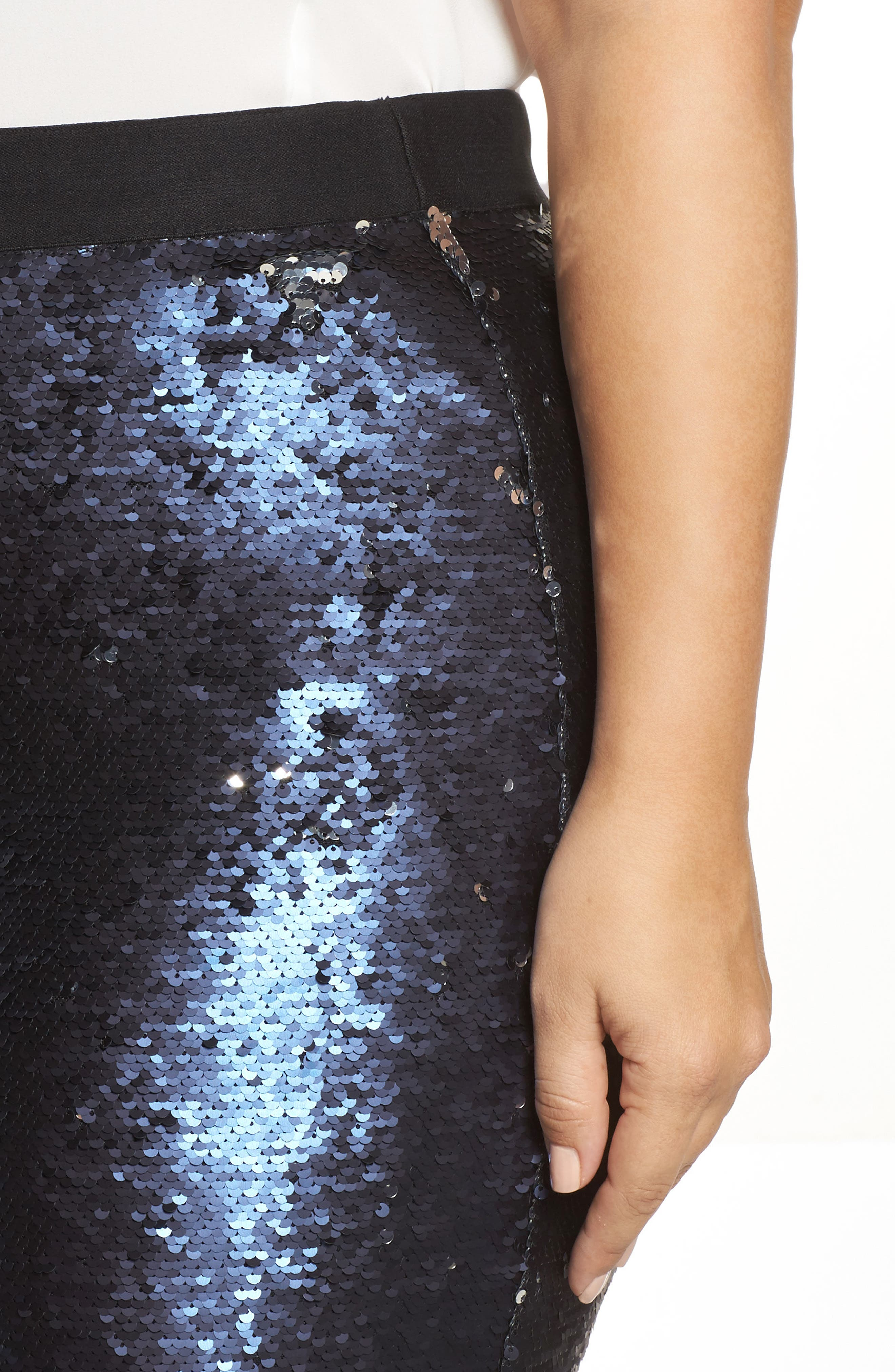 Alternate Image 4  - Rebel Wilson x Angels Sequin Mesh Pencil Skirt (Plus Size)