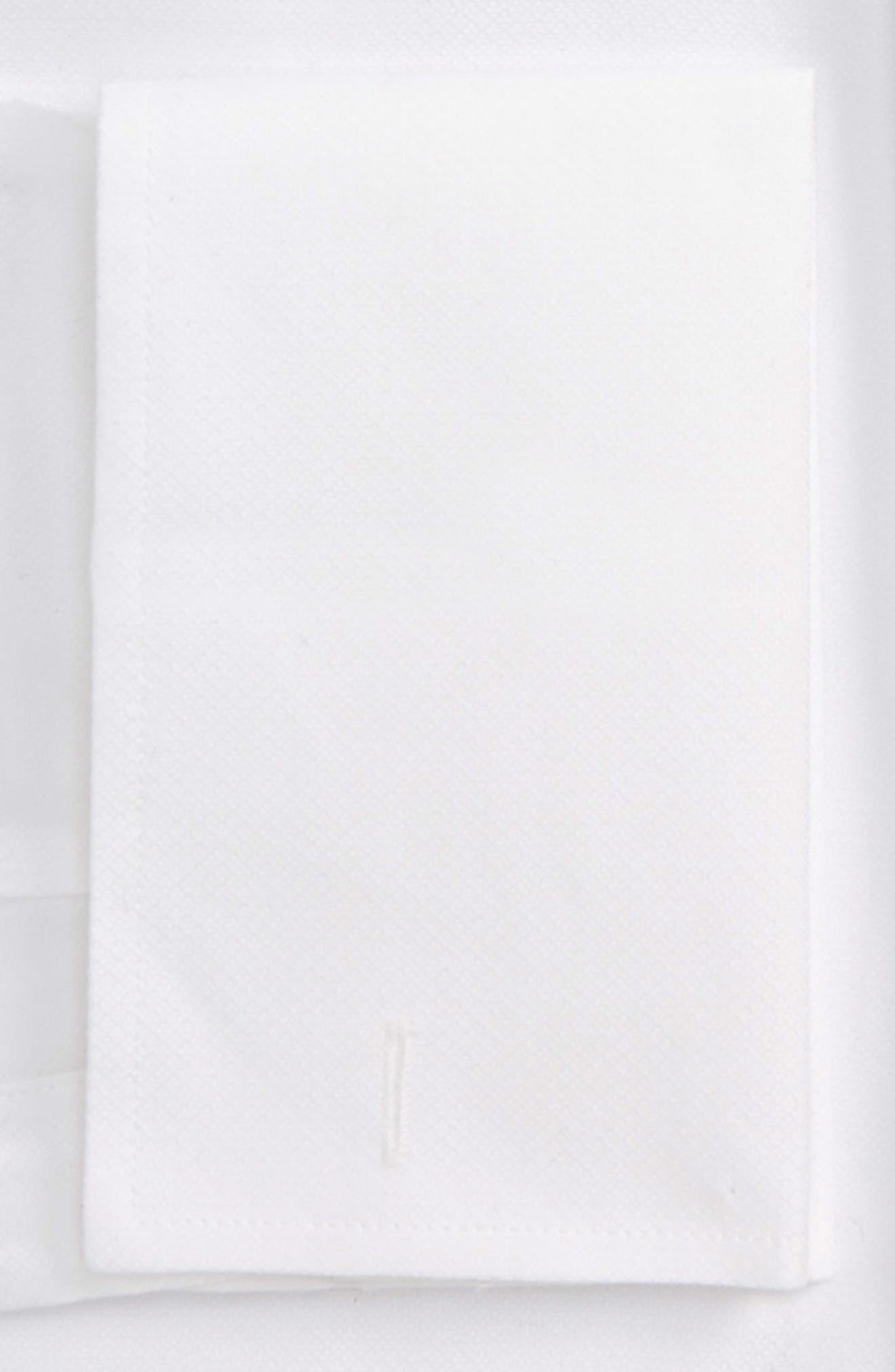 Trim Fit Tuxedo Shirt,                             Alternate thumbnail 5, color,                             White