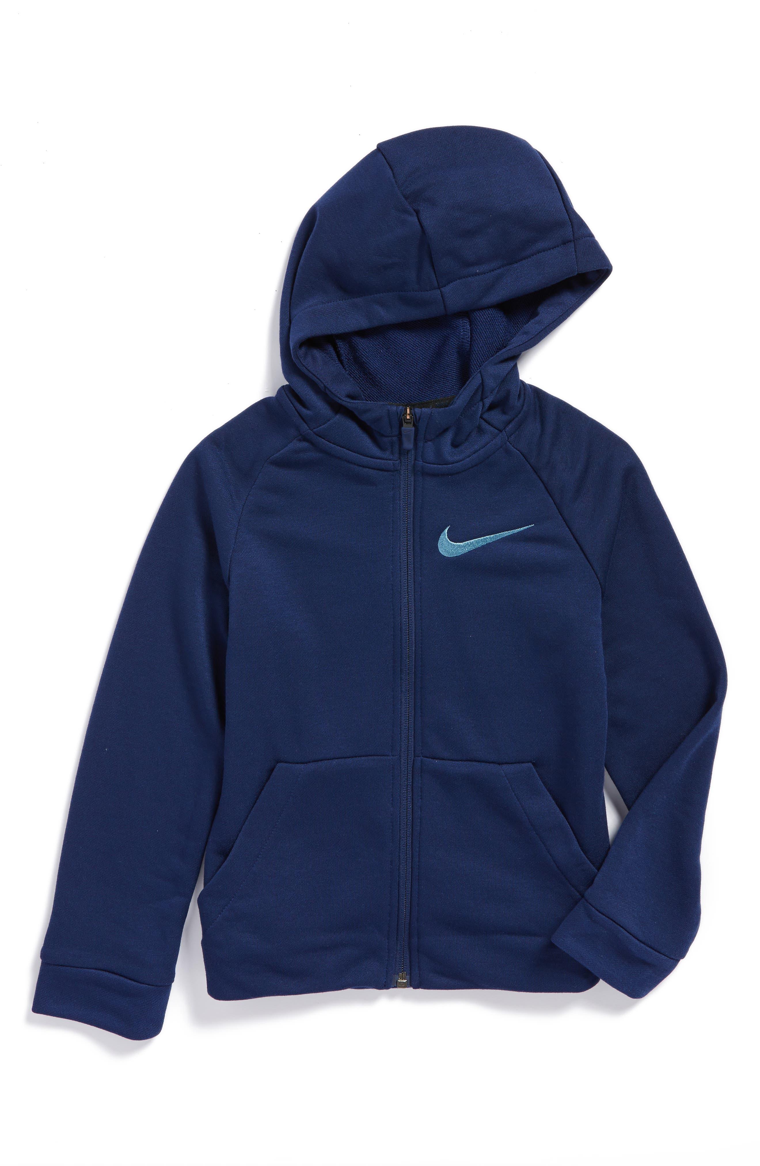 Main Image - Nike Dry Logo Zip Hoodie (Little Boys & Big Boys)