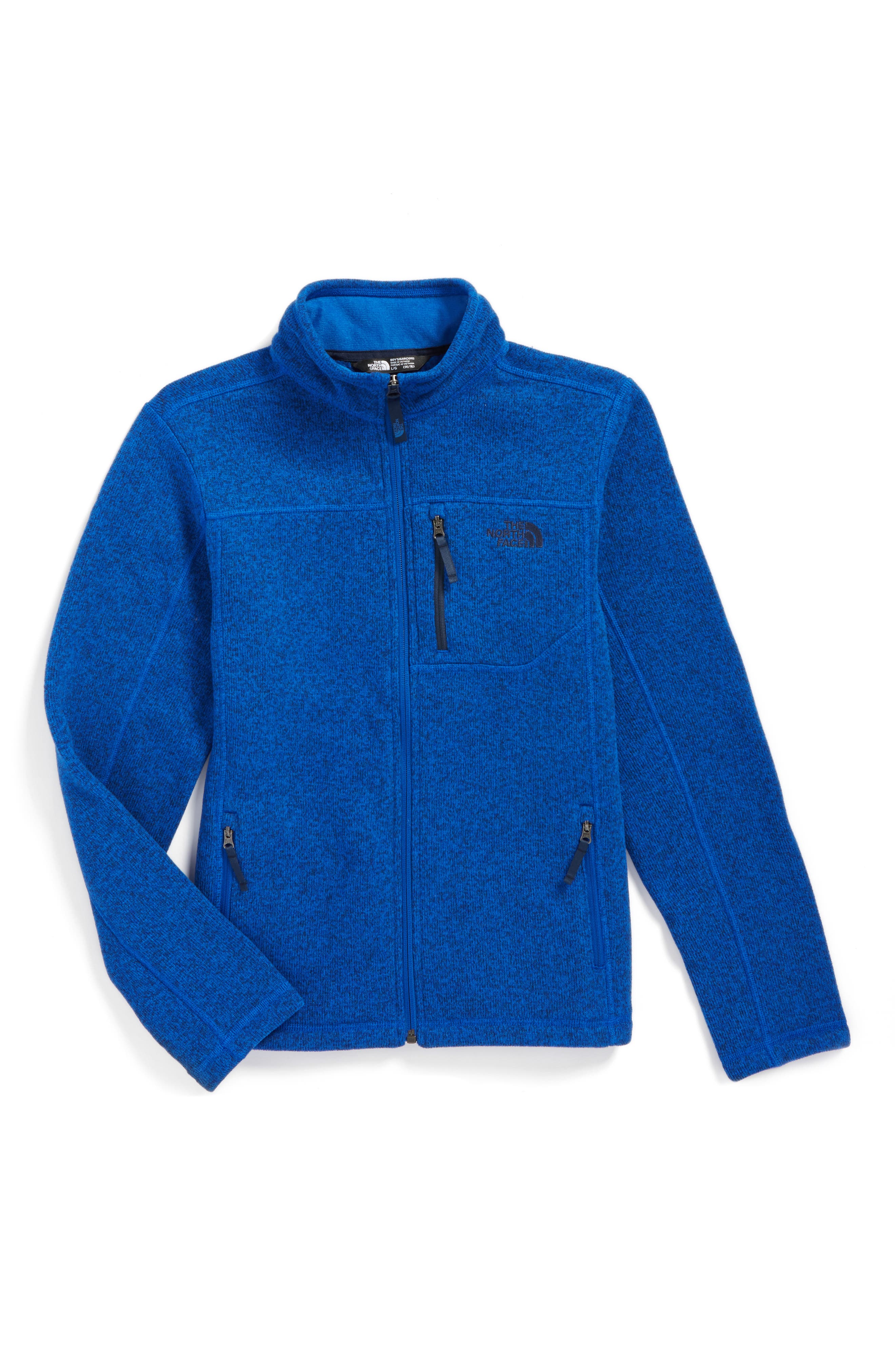 Alternate Image 1 Selected - The North Face Gordon Lyons Sweater Fleece Zip Jacket (Big Boys)