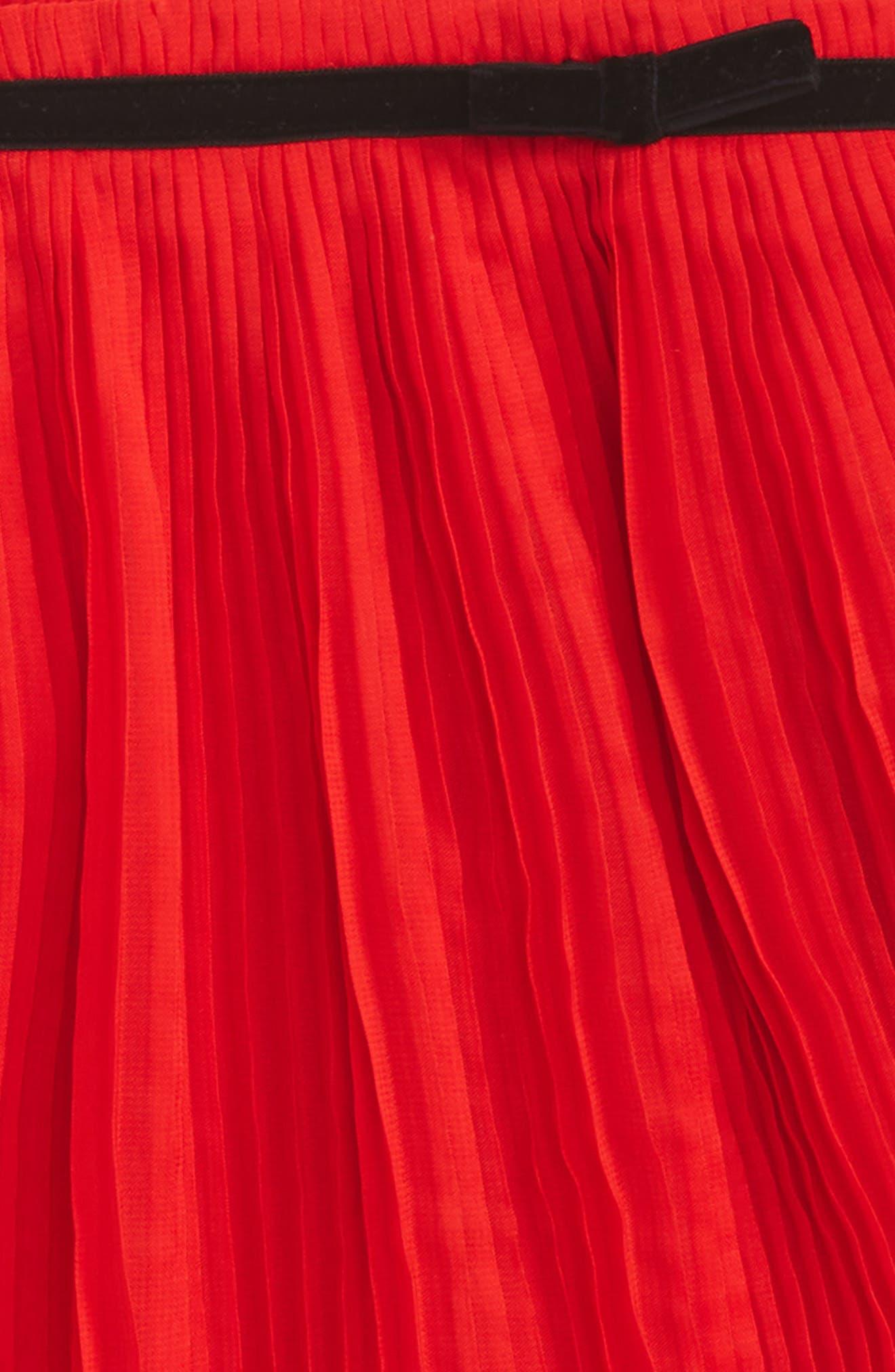 Alternate Image 2  - kate spade new york pleated chiffon skirt (Toddler Girls & Little Girls)