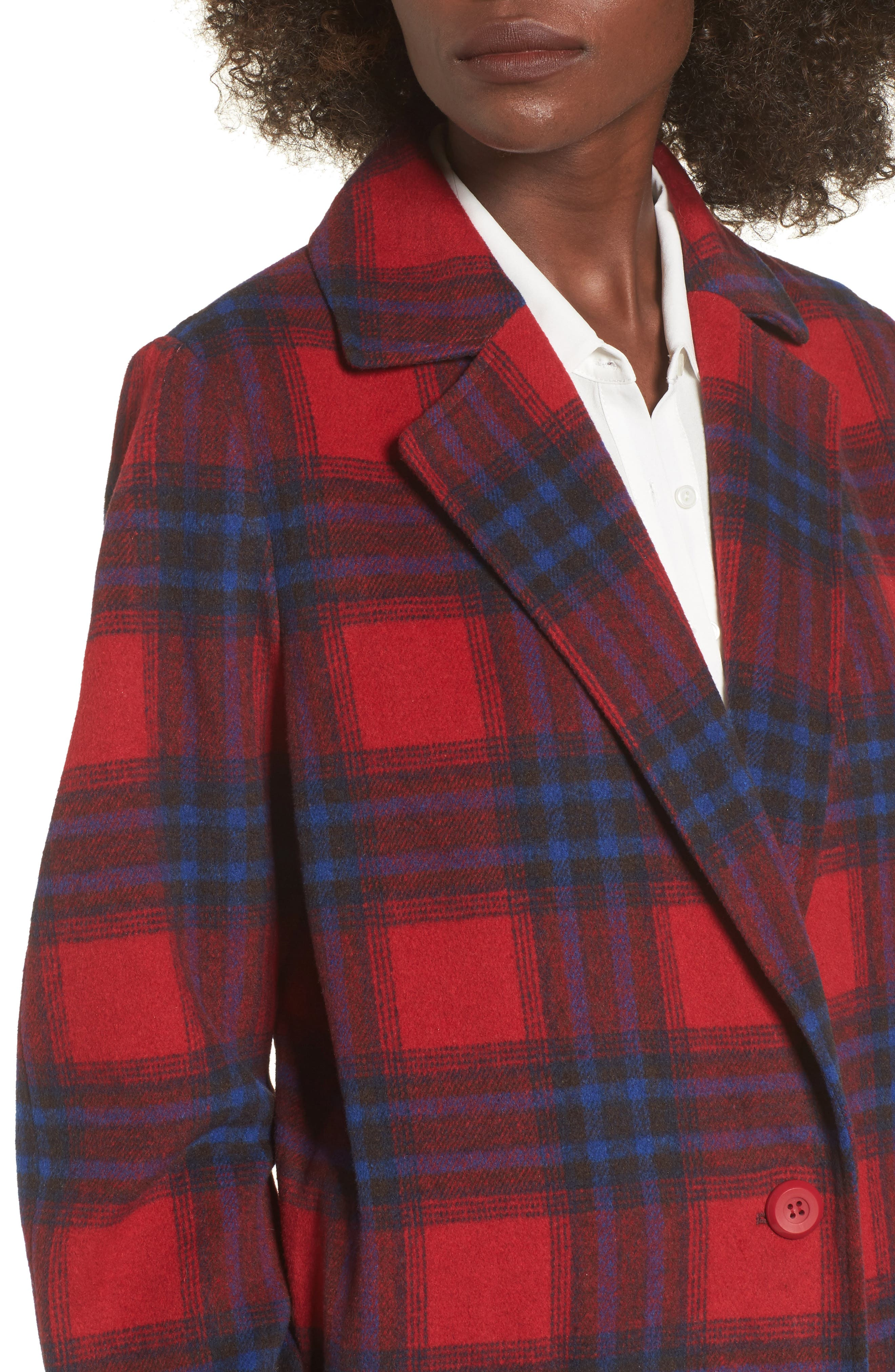 Alternate Image 5  - Leith Single Button Plaid Coat