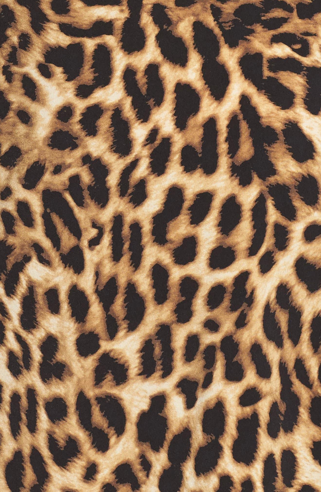 Alternate Image 5  - Vince Camuto Side Pleat Leopard Print Top (Plus Size)