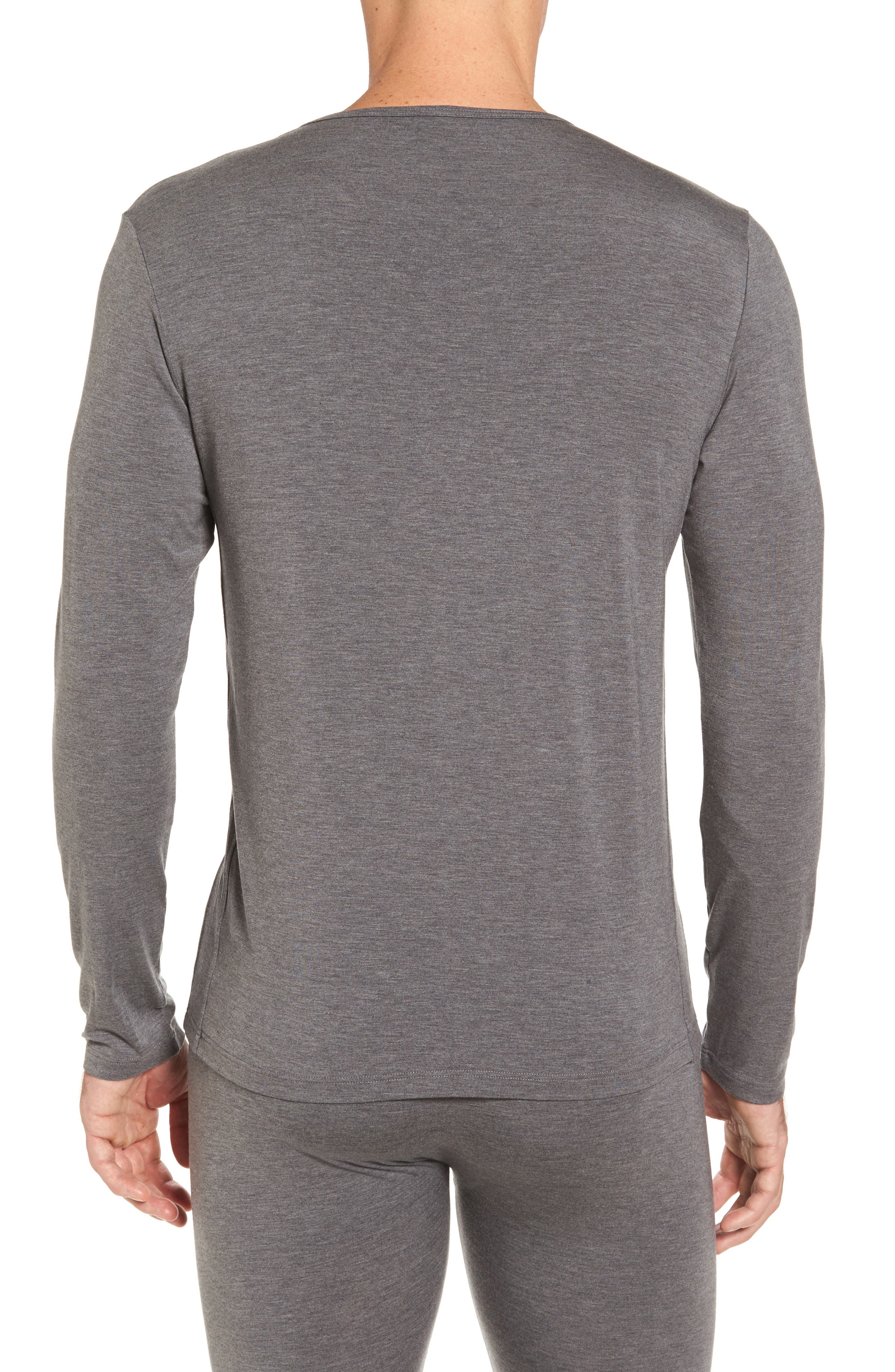Thermal Long Sleeve T-Shirt,                             Alternate thumbnail 2, color,                             Charcoal