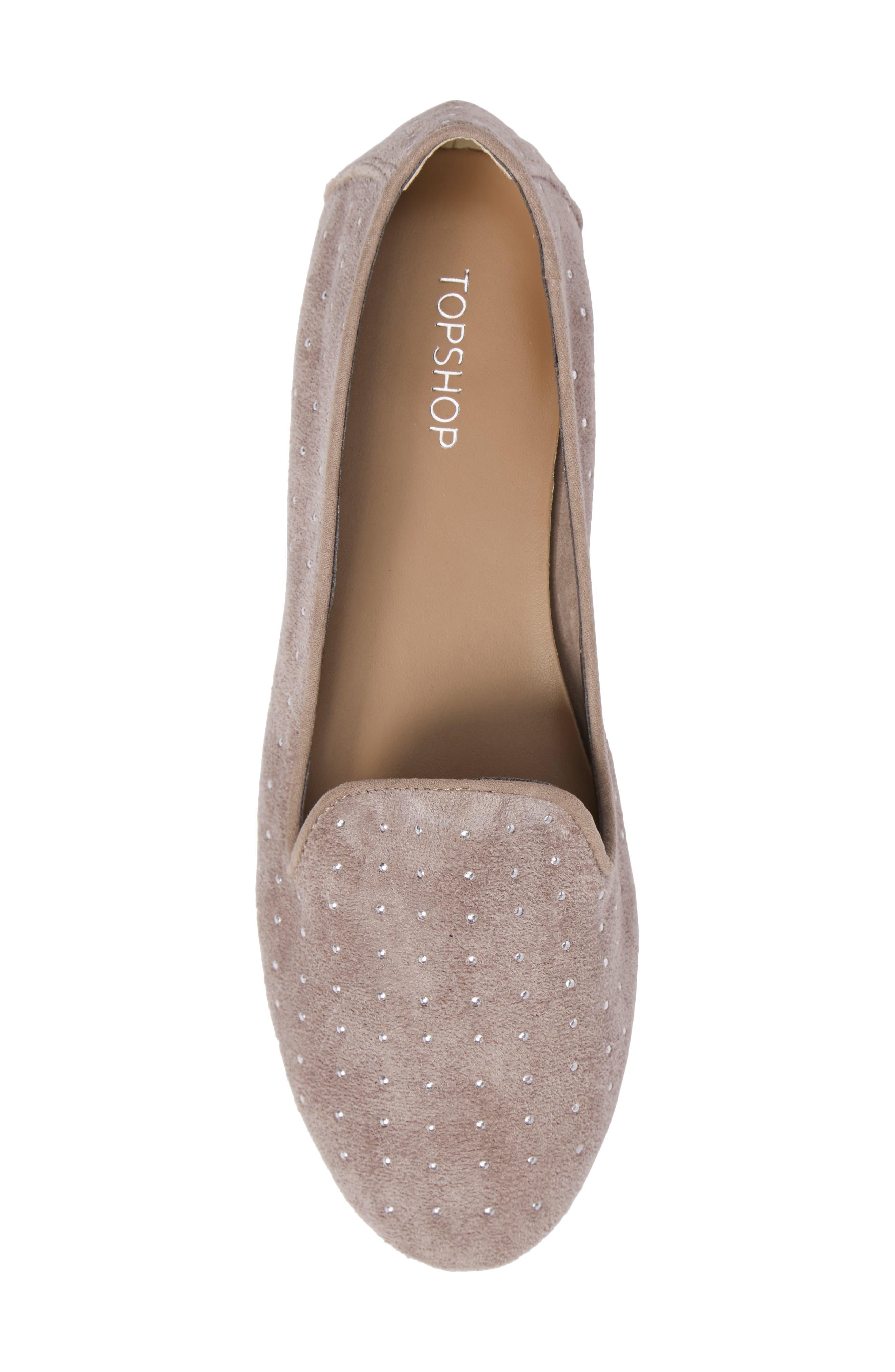 Alternate Image 5  - Topshop Sophie Studded Slip-On Loafers