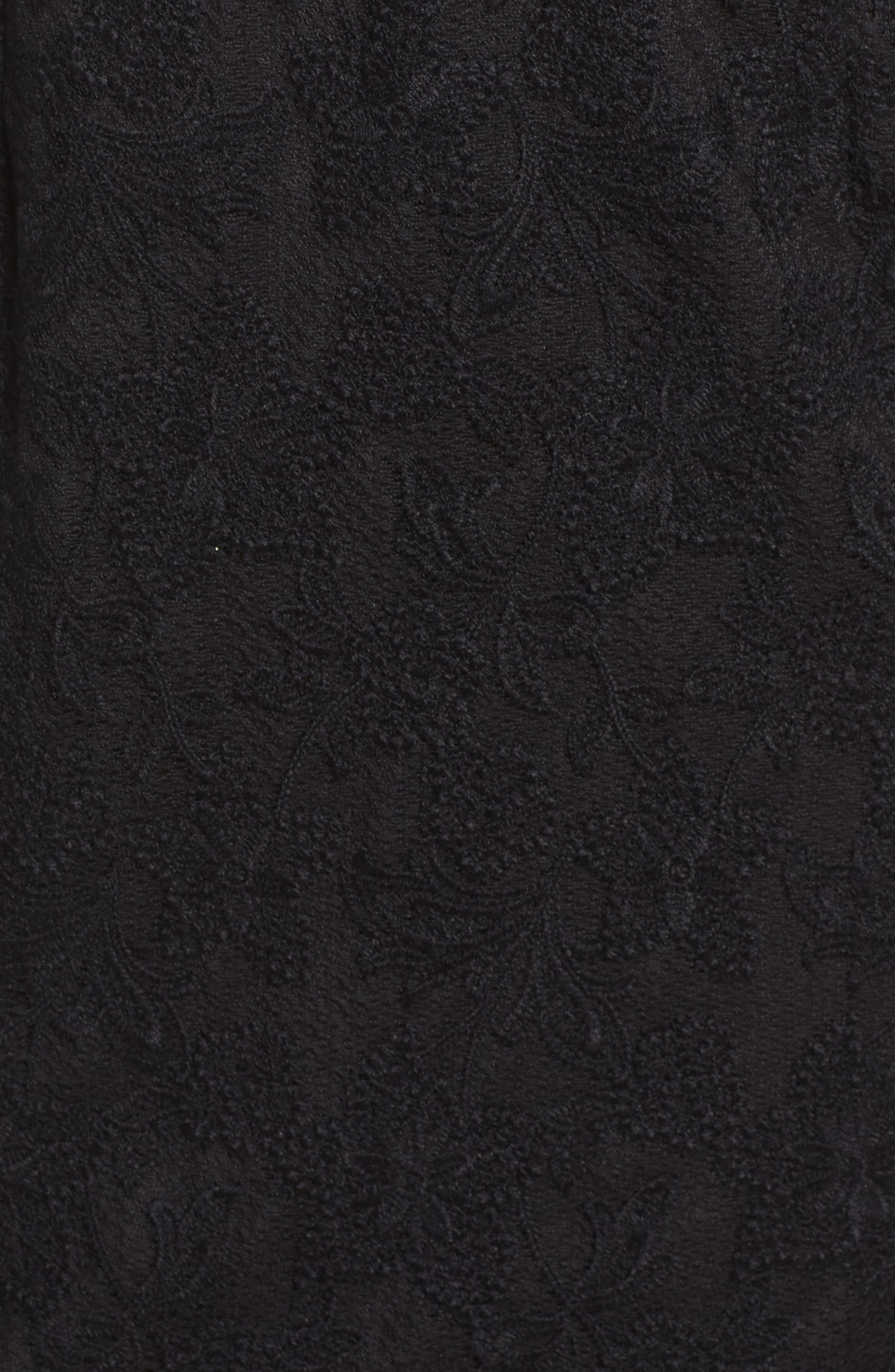 Salmone Lace Sheath Dress,                             Alternate thumbnail 5, color,                             Black/ Nude