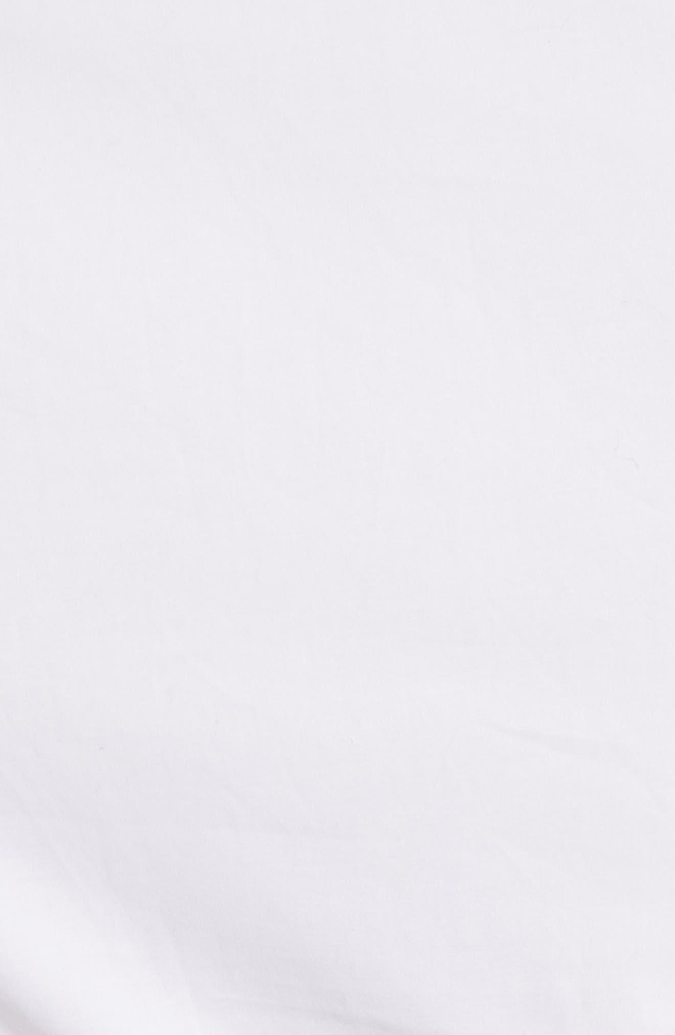 Cotton Poplin Wrap Dress,                             Alternate thumbnail 5, color,                             Optic White