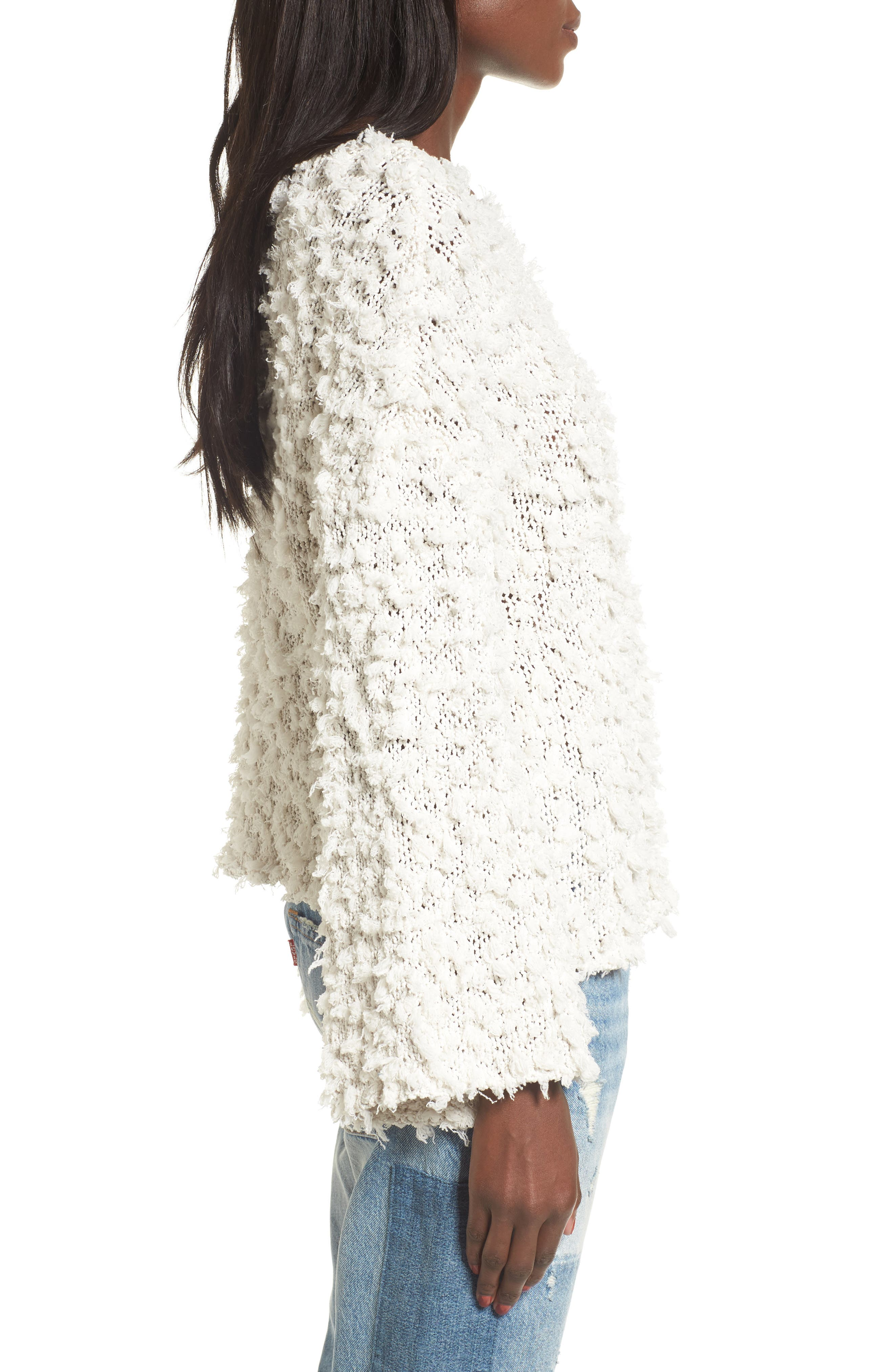 Alternate Image 4  - MOON RIVER Nubby Boatneck Sweater