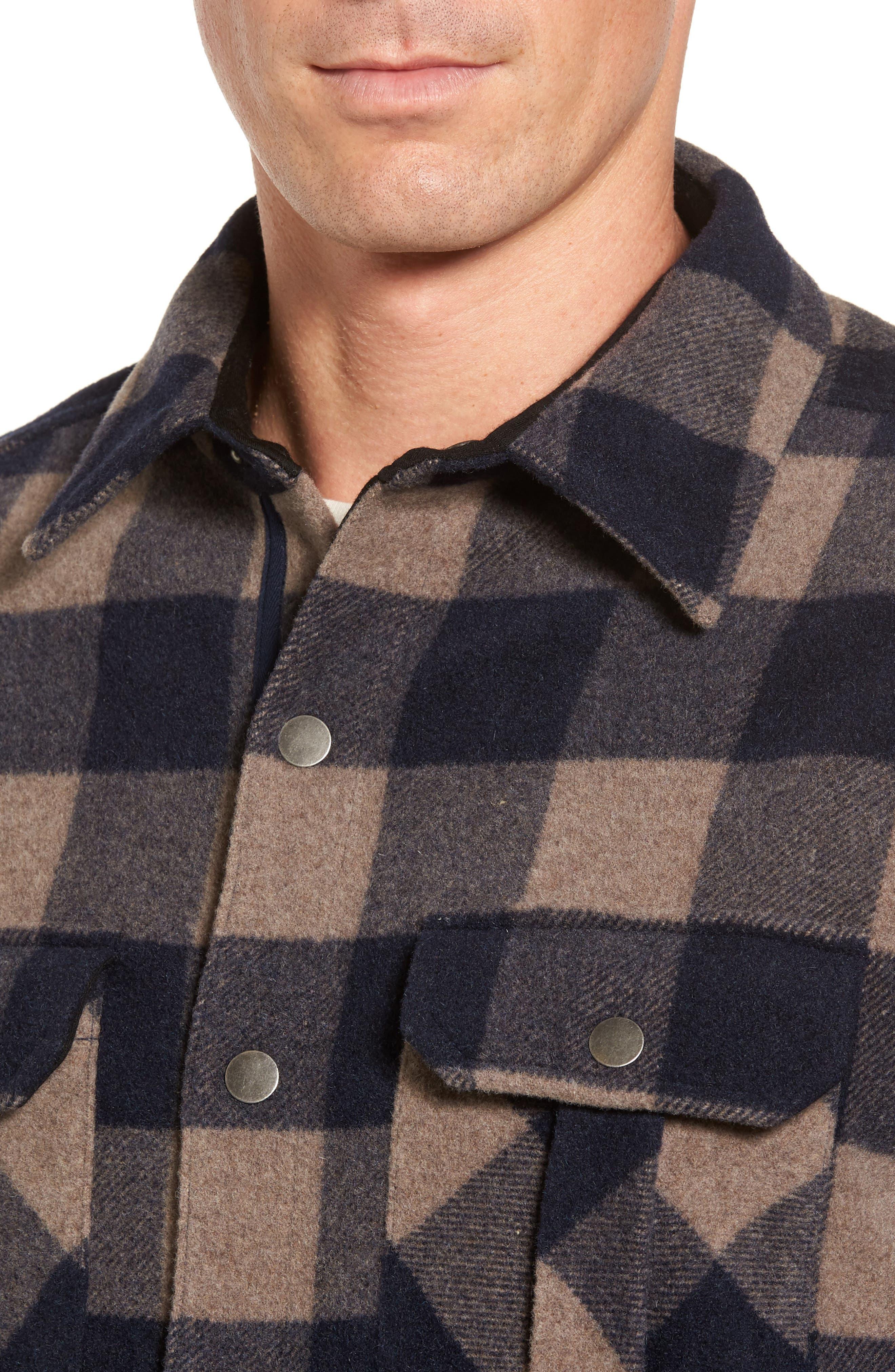 Anchor Line Flannel Shirt Jacket,                             Alternate thumbnail 4, color,                             Navy