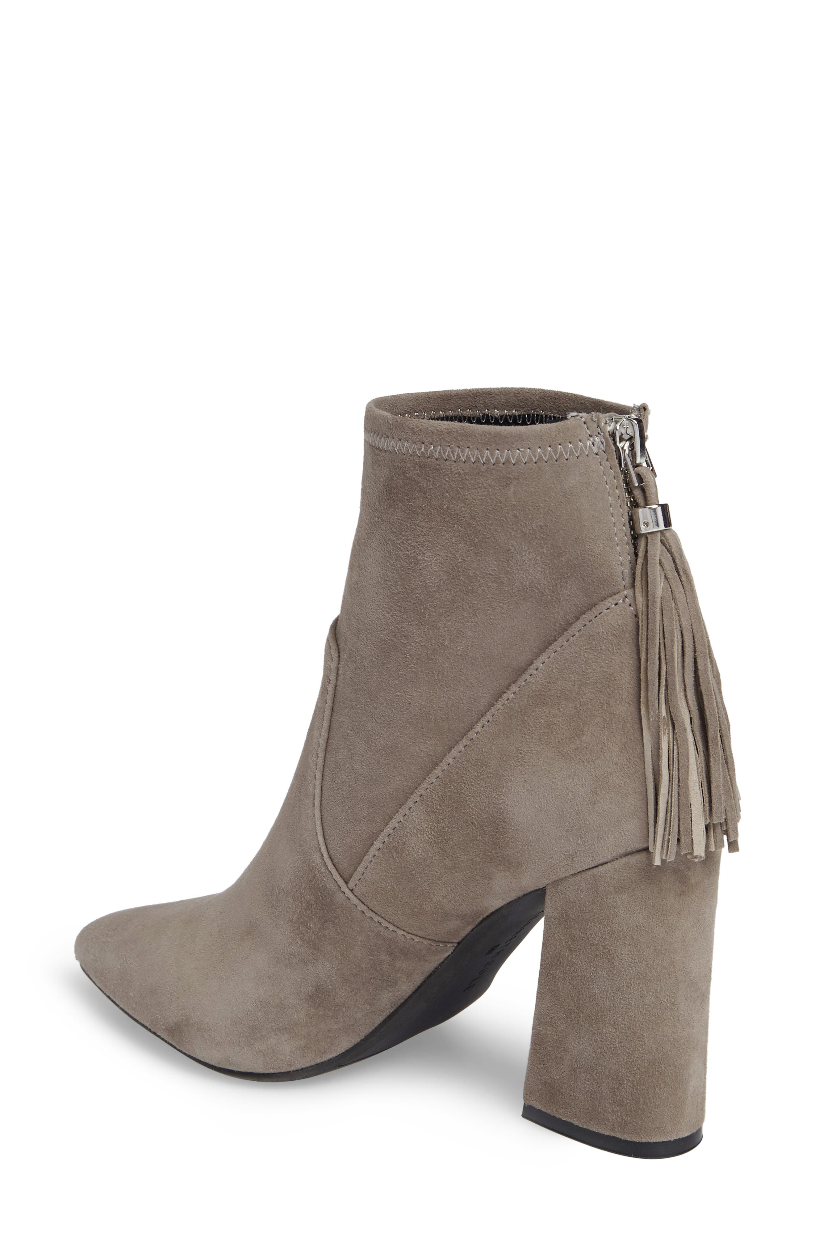 Gracelyn Pointy Toe Bootie,                             Alternate thumbnail 2, color,                             Elephant Suede