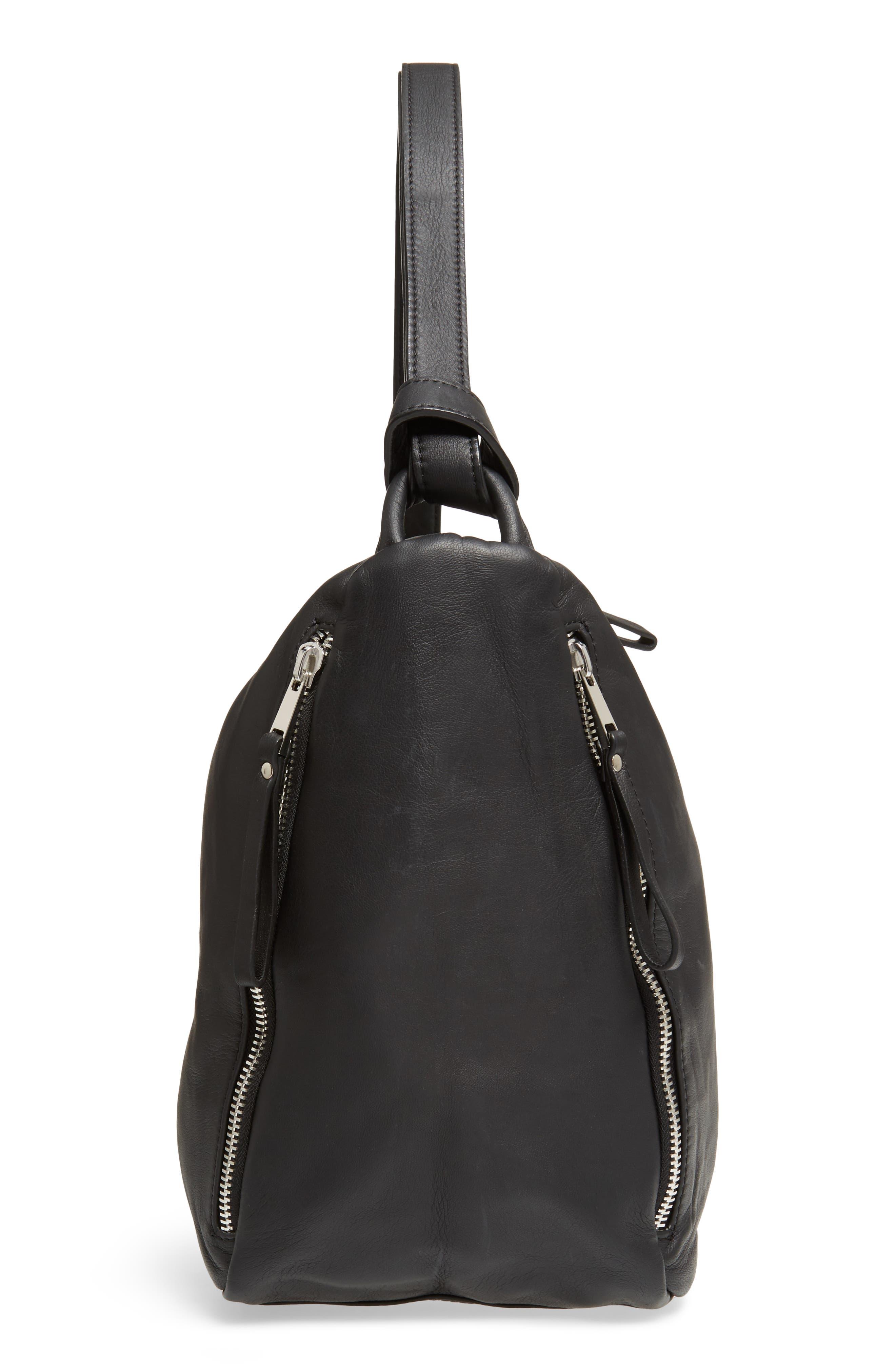 Alternate Image 4  - Topshop Premium Leather Sling Shoulder Bag