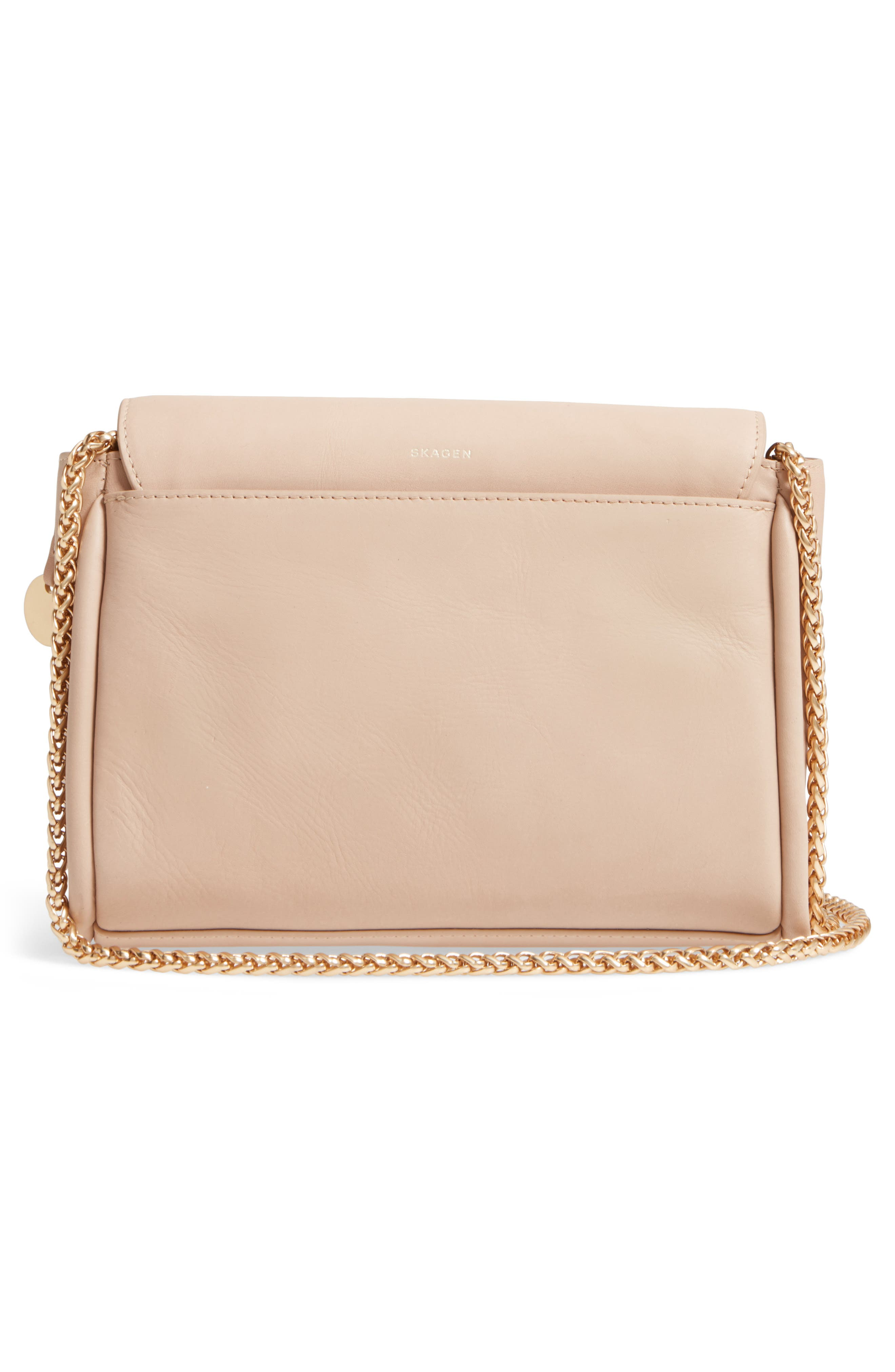 Sylvi Calfskin Leather Crossbody Bag,                             Alternate thumbnail 2, color,                             Beige
