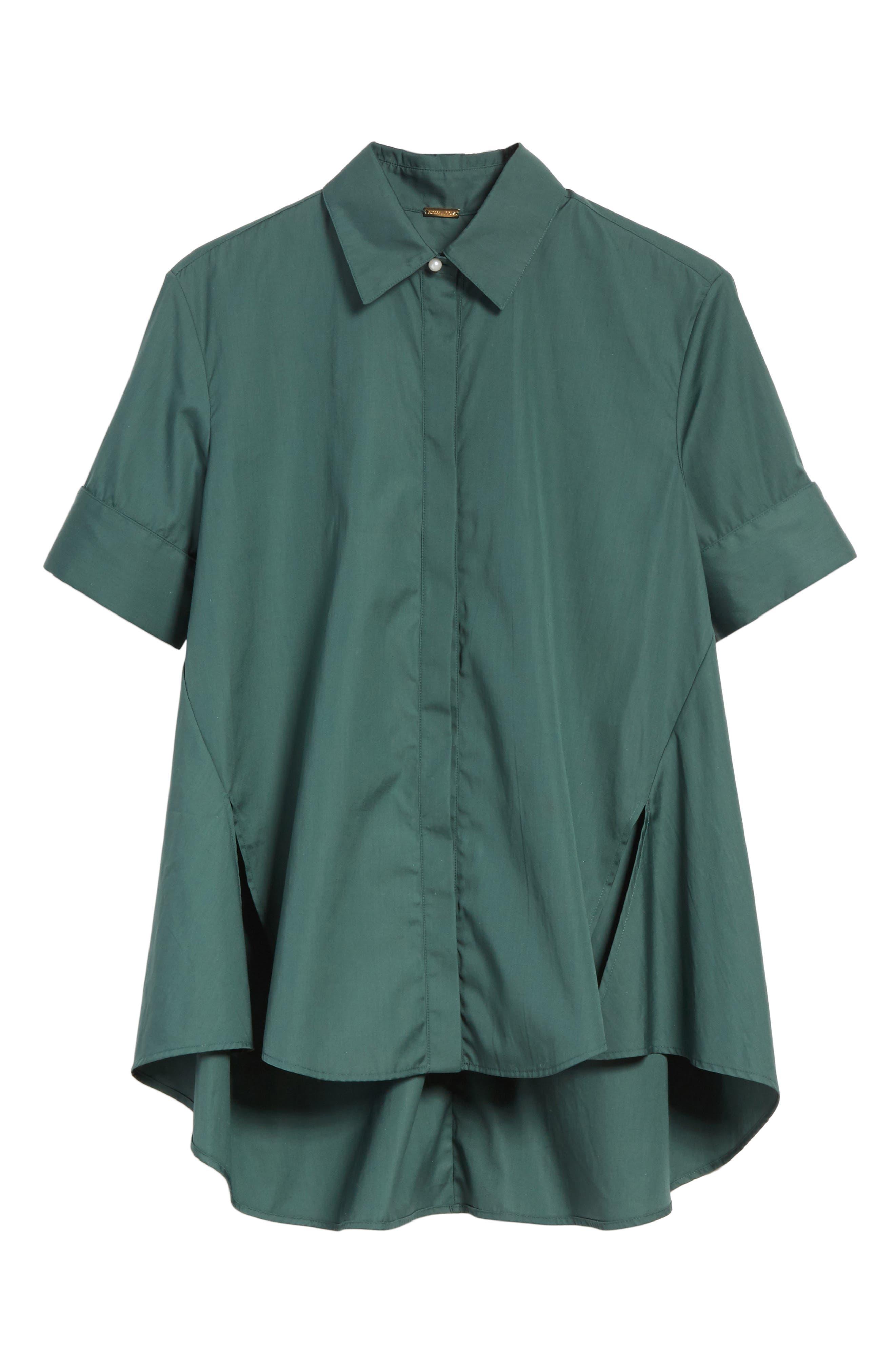 Alternate Image 7  - Adam Lippes Cotton Poplin Trapeze Shirt