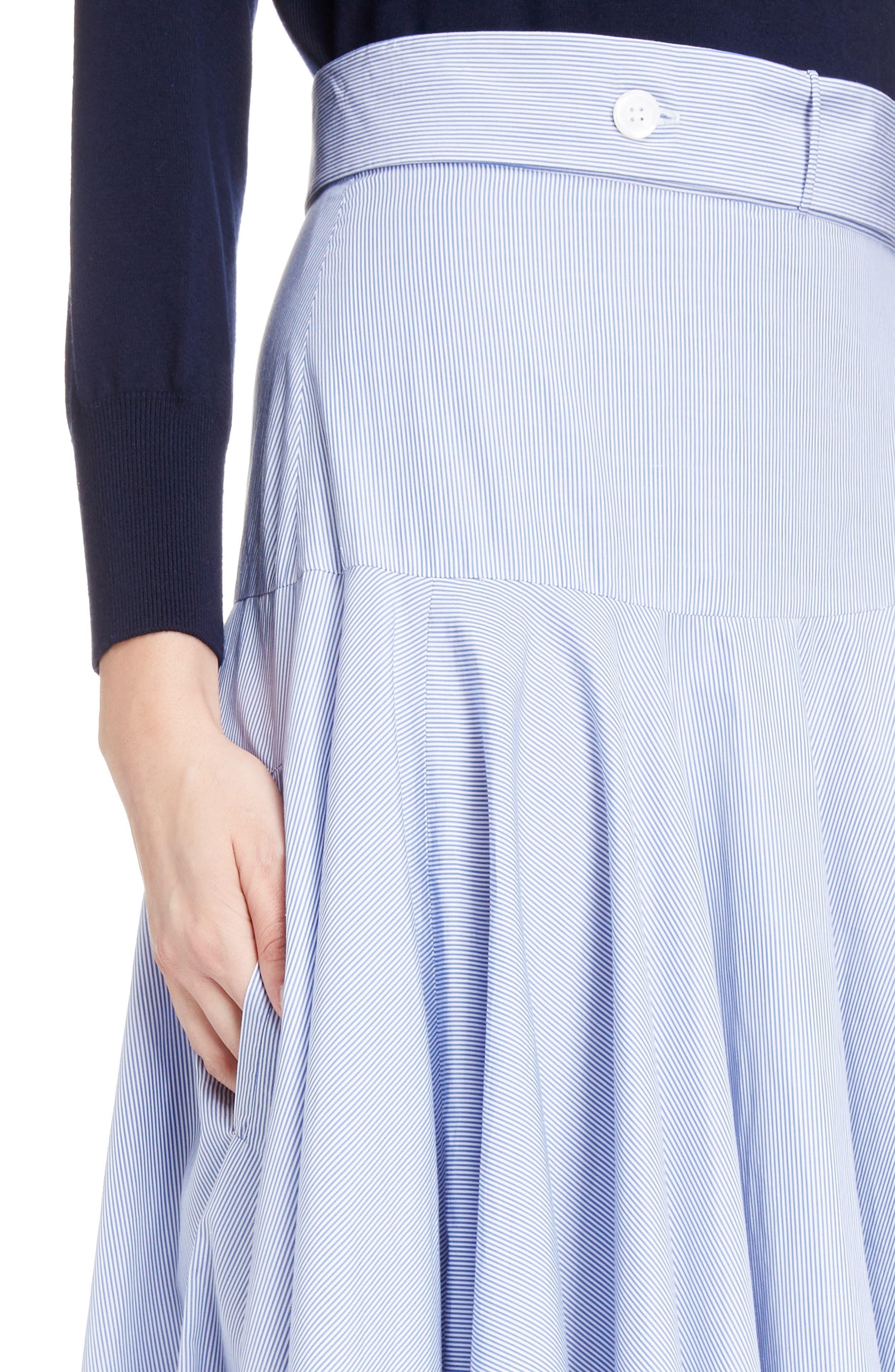 Alternate Image 4  - Loewe Stripe Cotton Skater Skirt