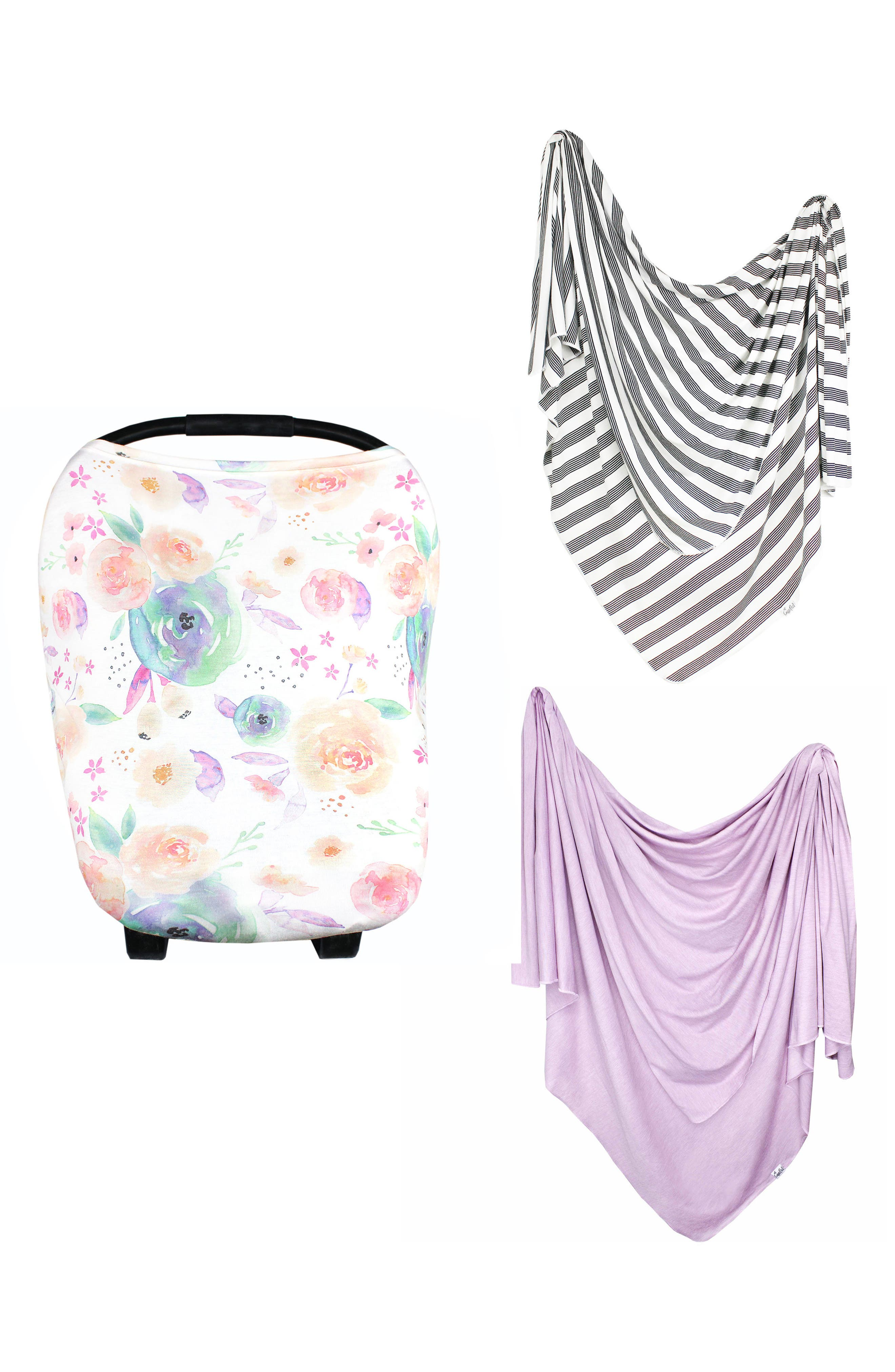 Bloom Multiuse Cover & Swaddle Blanket Gift Set,                             Main thumbnail 1, color,                             Bloom