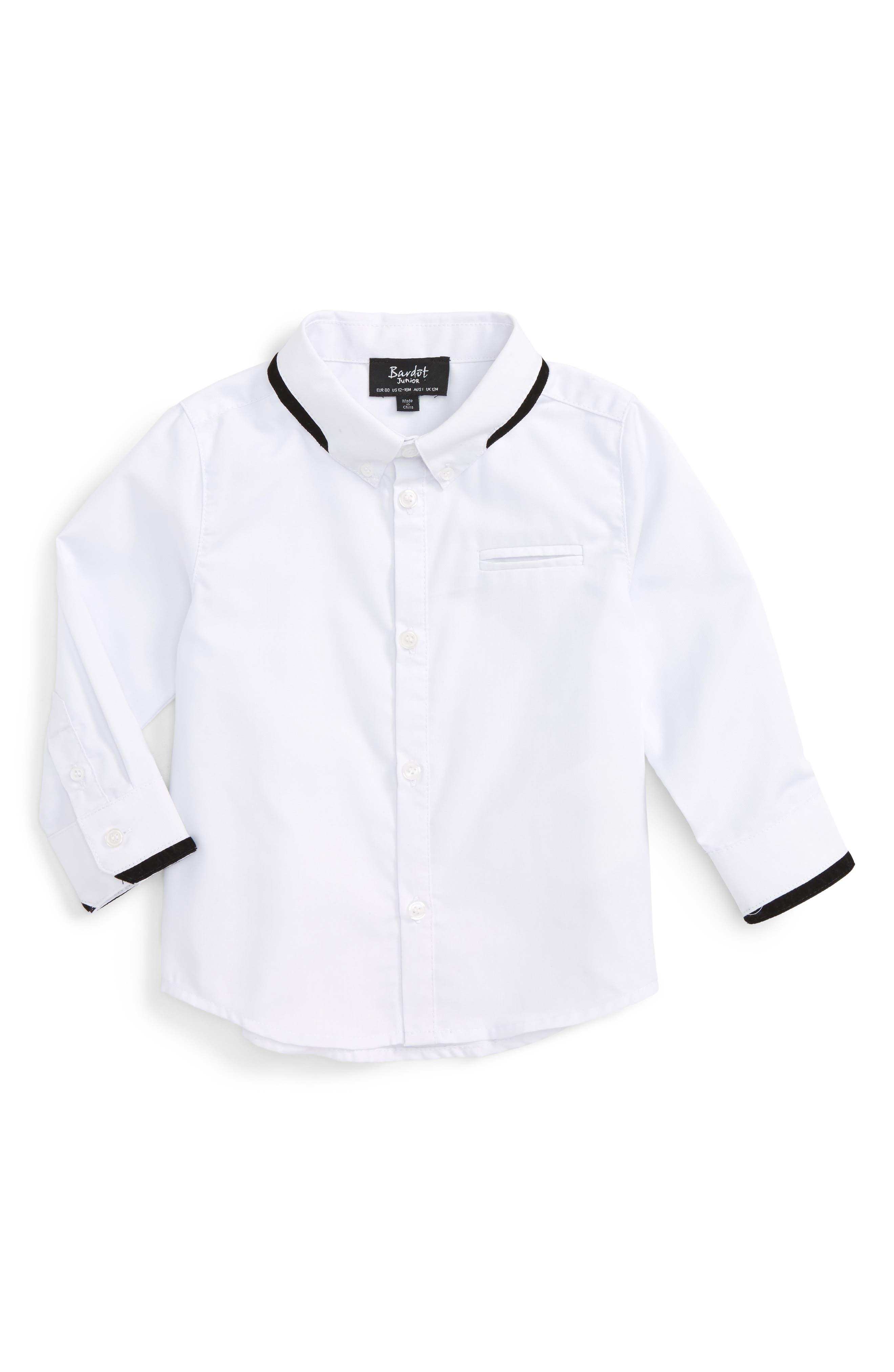 Woven Shirt,                             Main thumbnail 1, color,                             White