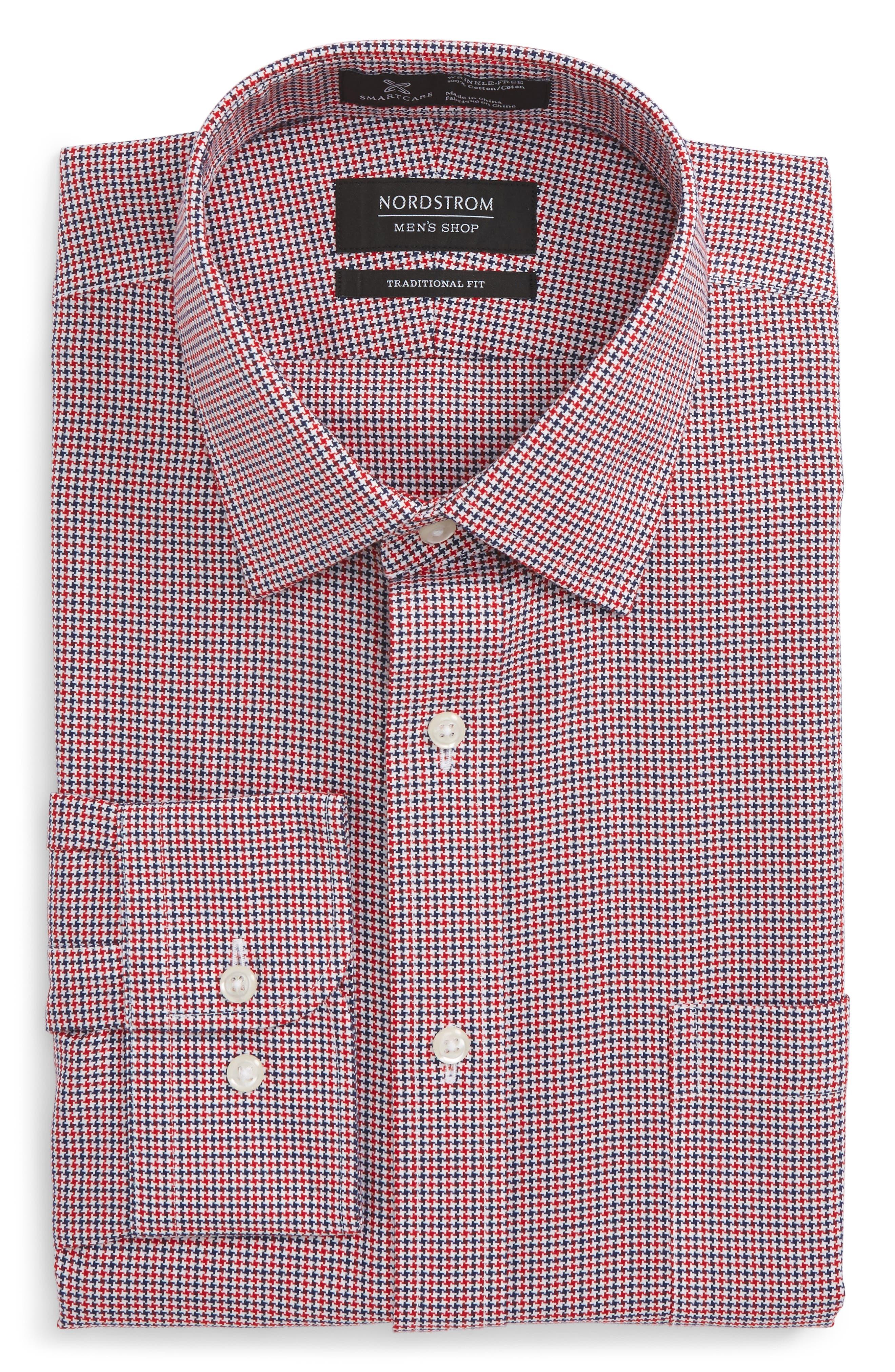 Alternate Image 1 Selected - Nordstrom Men's Shop Smartcare™ Traditional Fit Houndstooth Dress Shirt