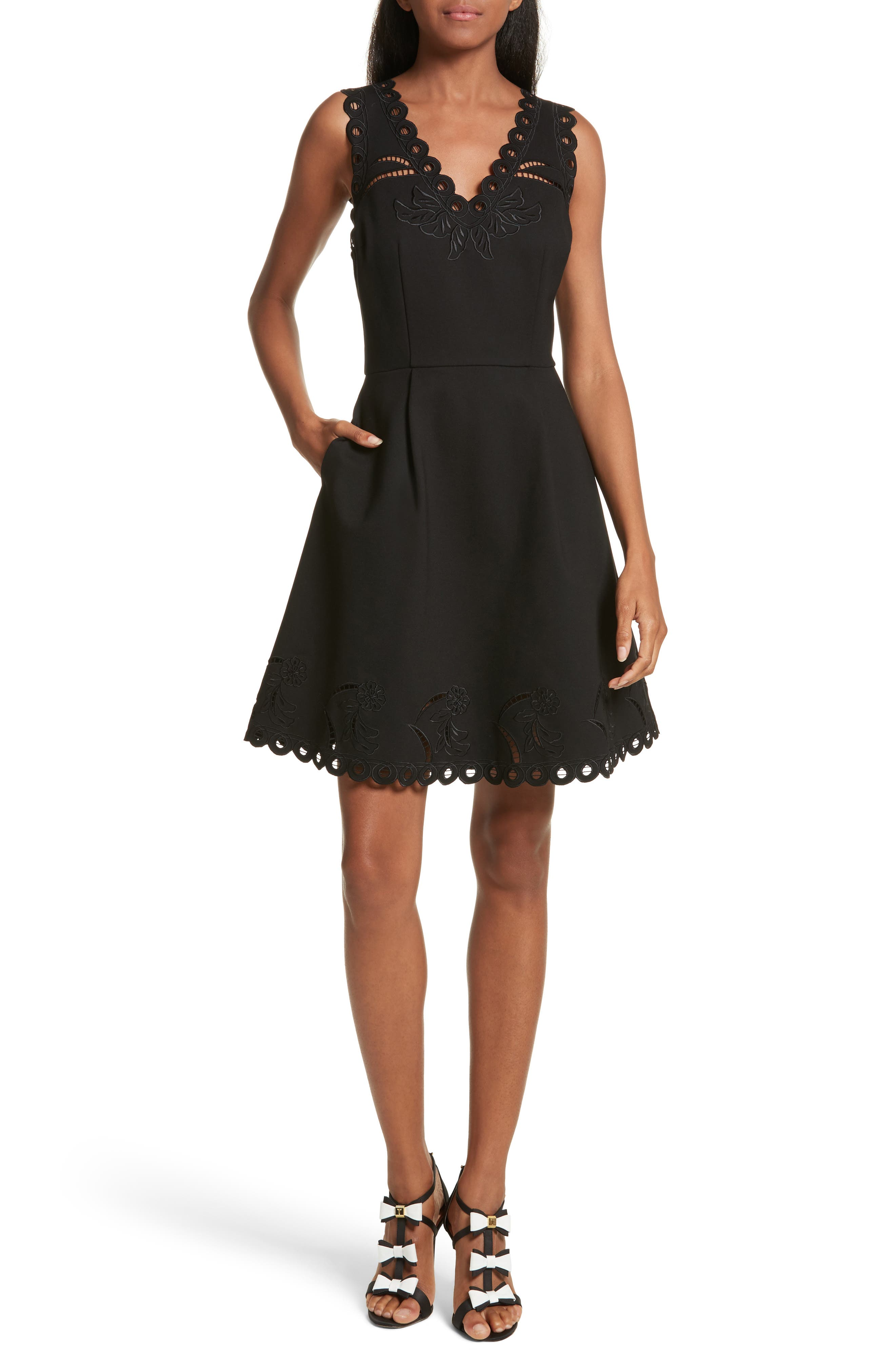 Ted Baker London Emalise Embroidered Skater Dress