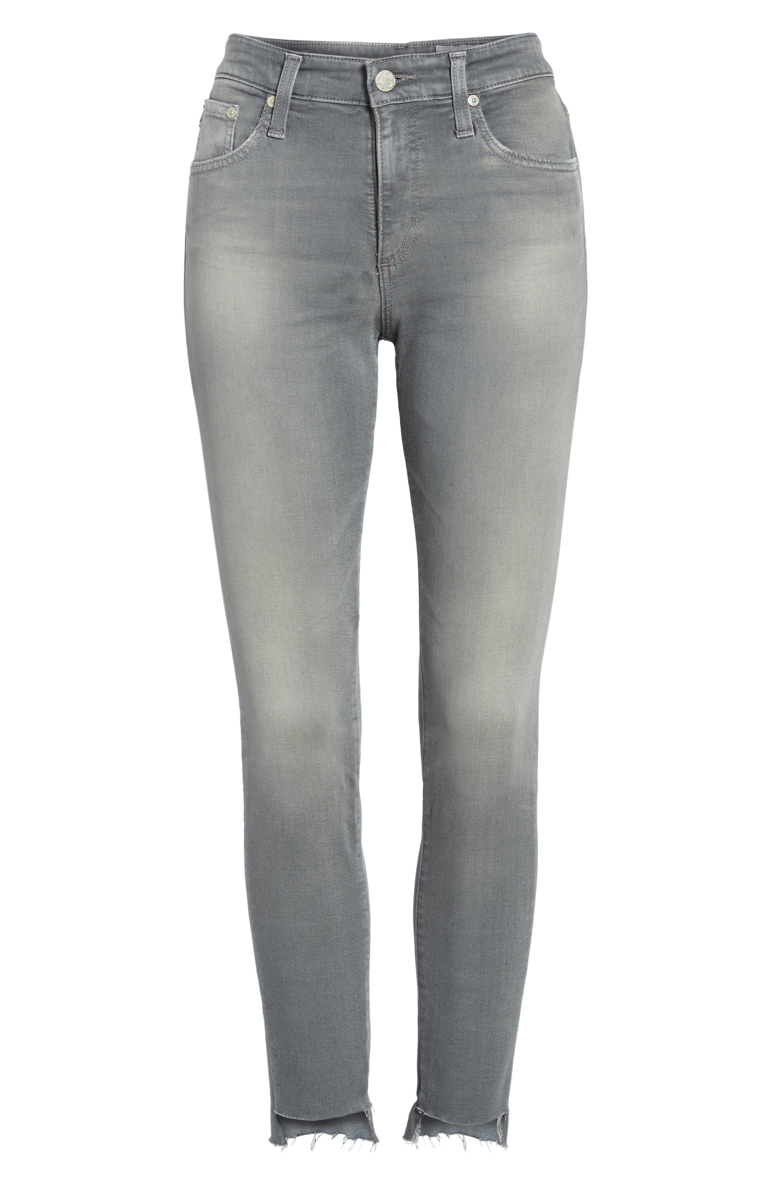 Farrah High Waist Ankle Skinny Jeans,                             Alternate thumbnail 6, color,                             10 Years Grey Shadow