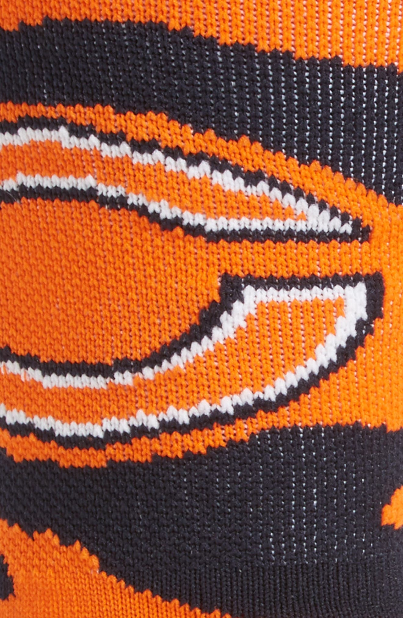Chicago Bears - Tiger Stripe Socks,                             Alternate thumbnail 2, color,                             Orange