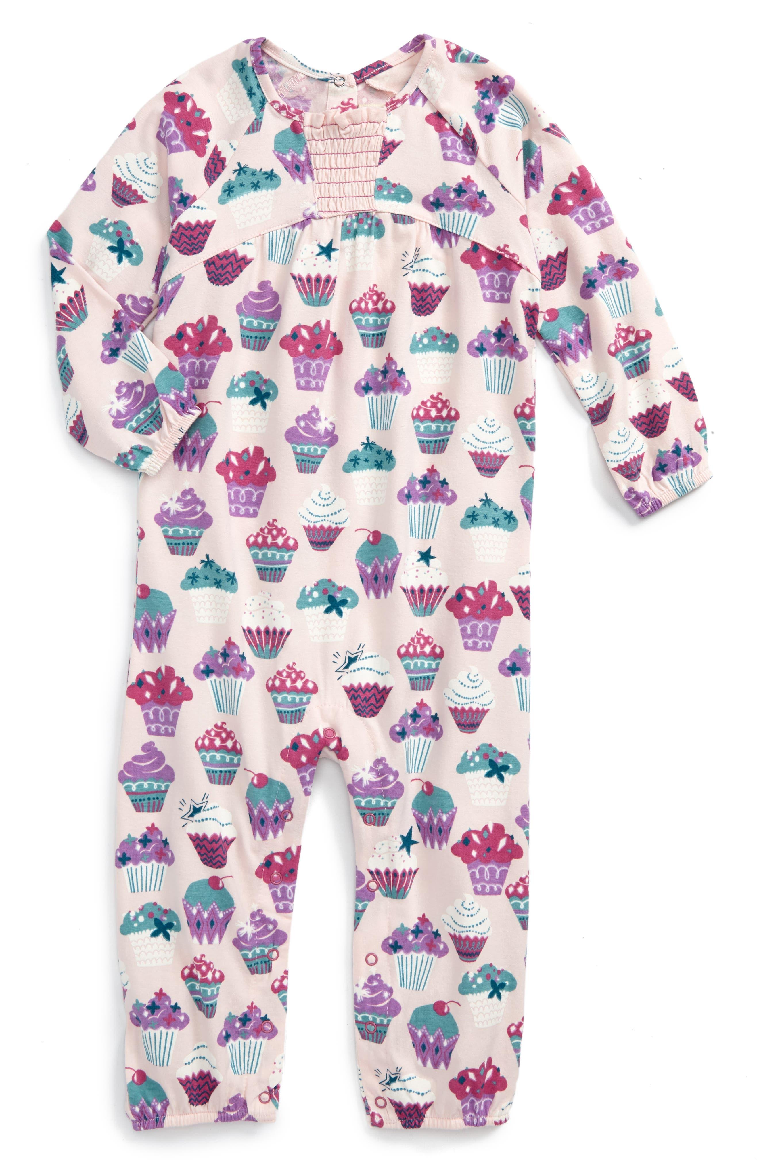 Hatley Print Long Sleeve Romper (Baby Girls)