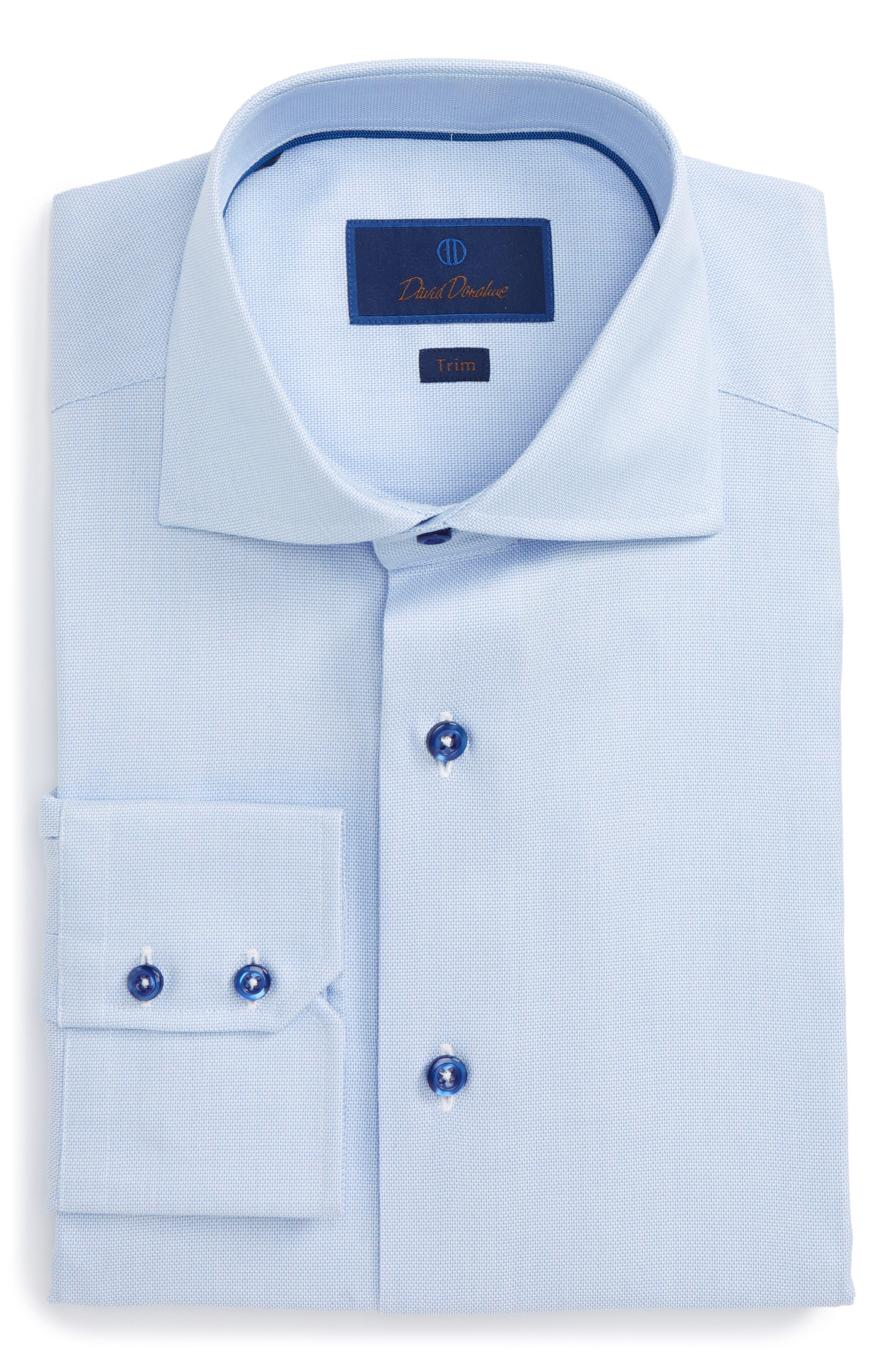 Alternate Image 1 Selected - David Donahue Trim Fit Solid Dress Shirt