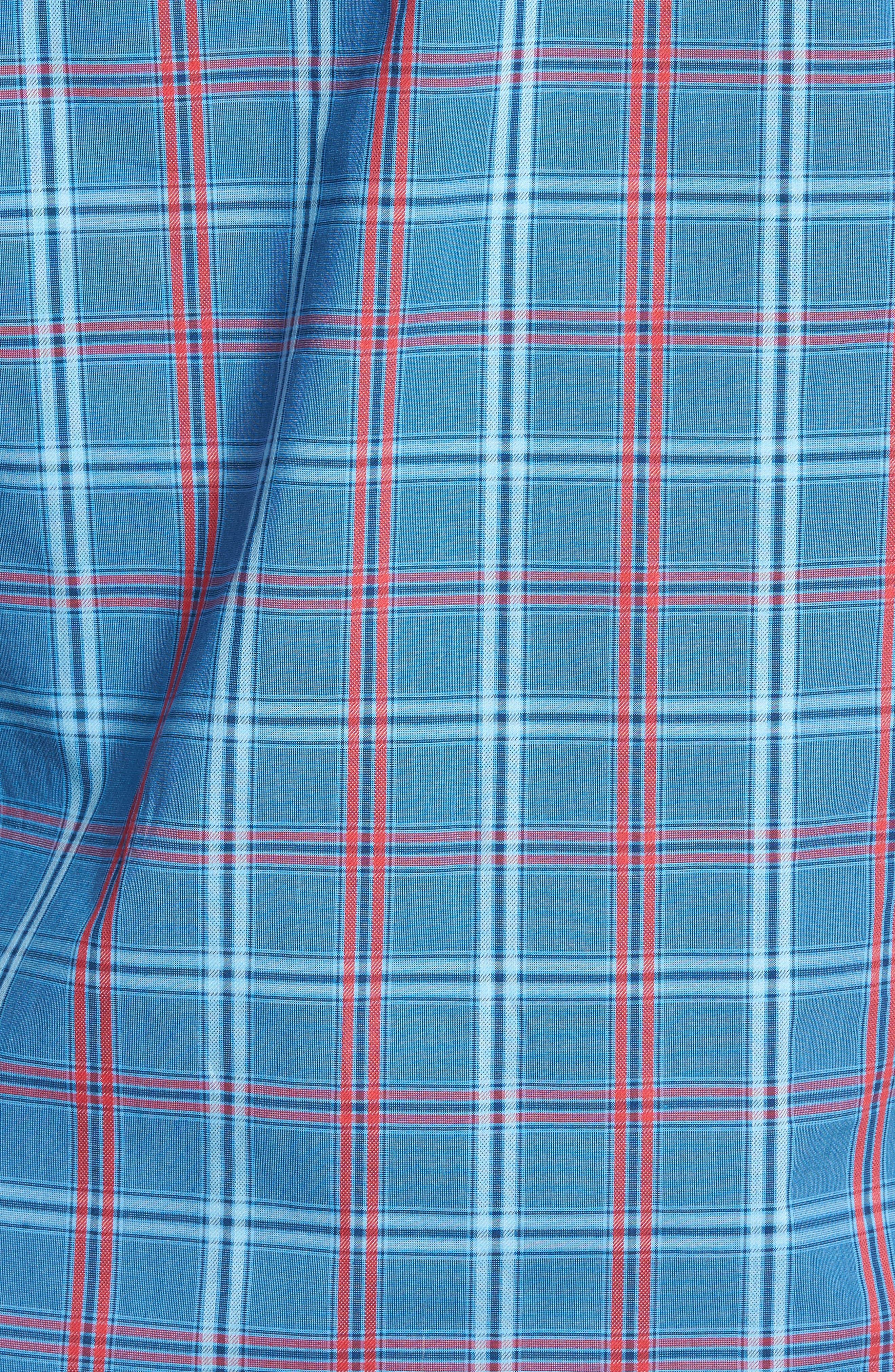 Ashland Windowpane Check Sport Shirt,                             Alternate thumbnail 5, color,                             Blue