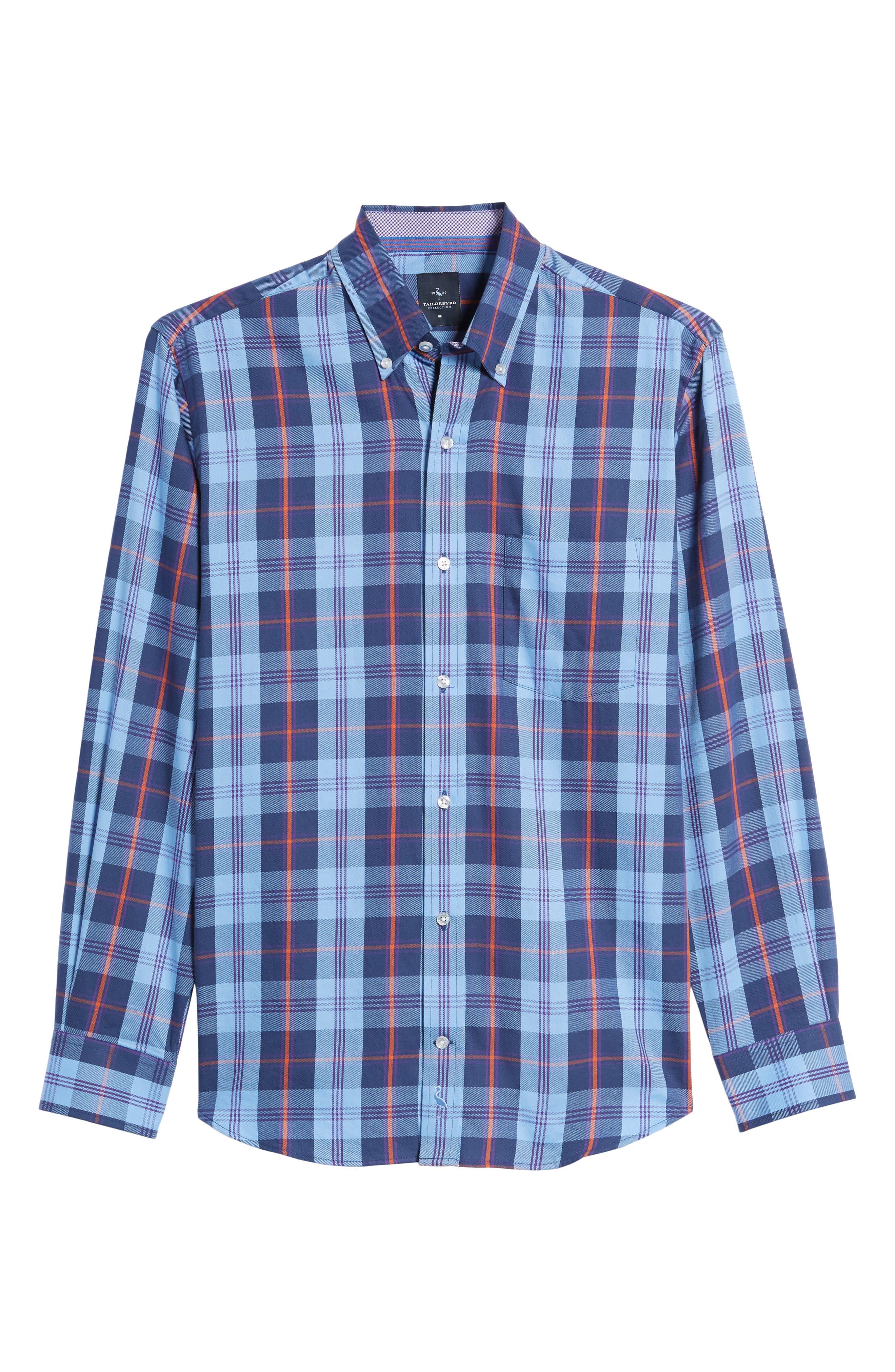 Alternate Image 6  - TailorByrd Delcambre Plaid Twill Sport Shirt