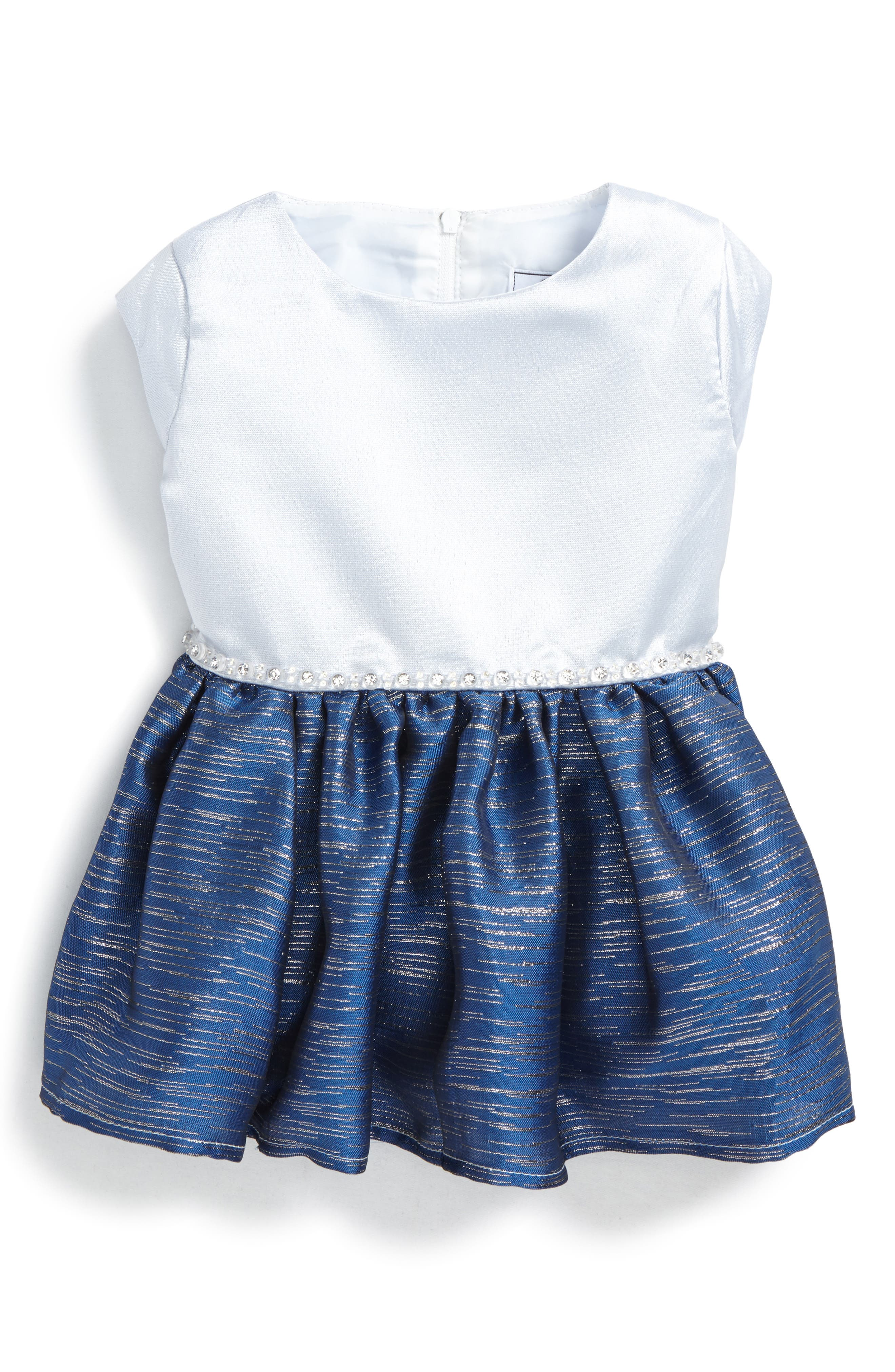 Jolie Fit & Flare Dress,                         Main,                         color, Ice Blue