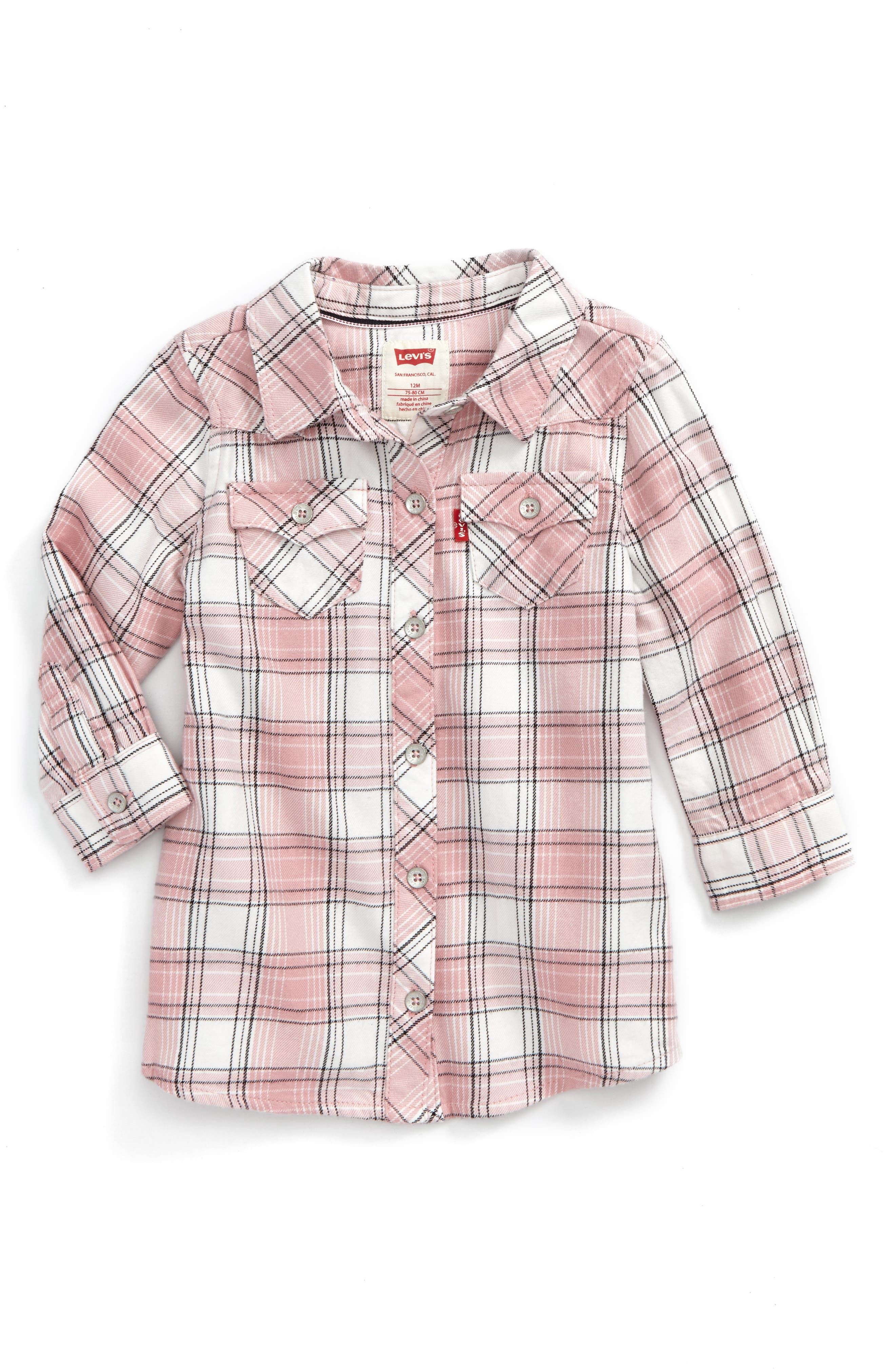 Levi's® The Western Plaid Shirtdress (Baby Girls)