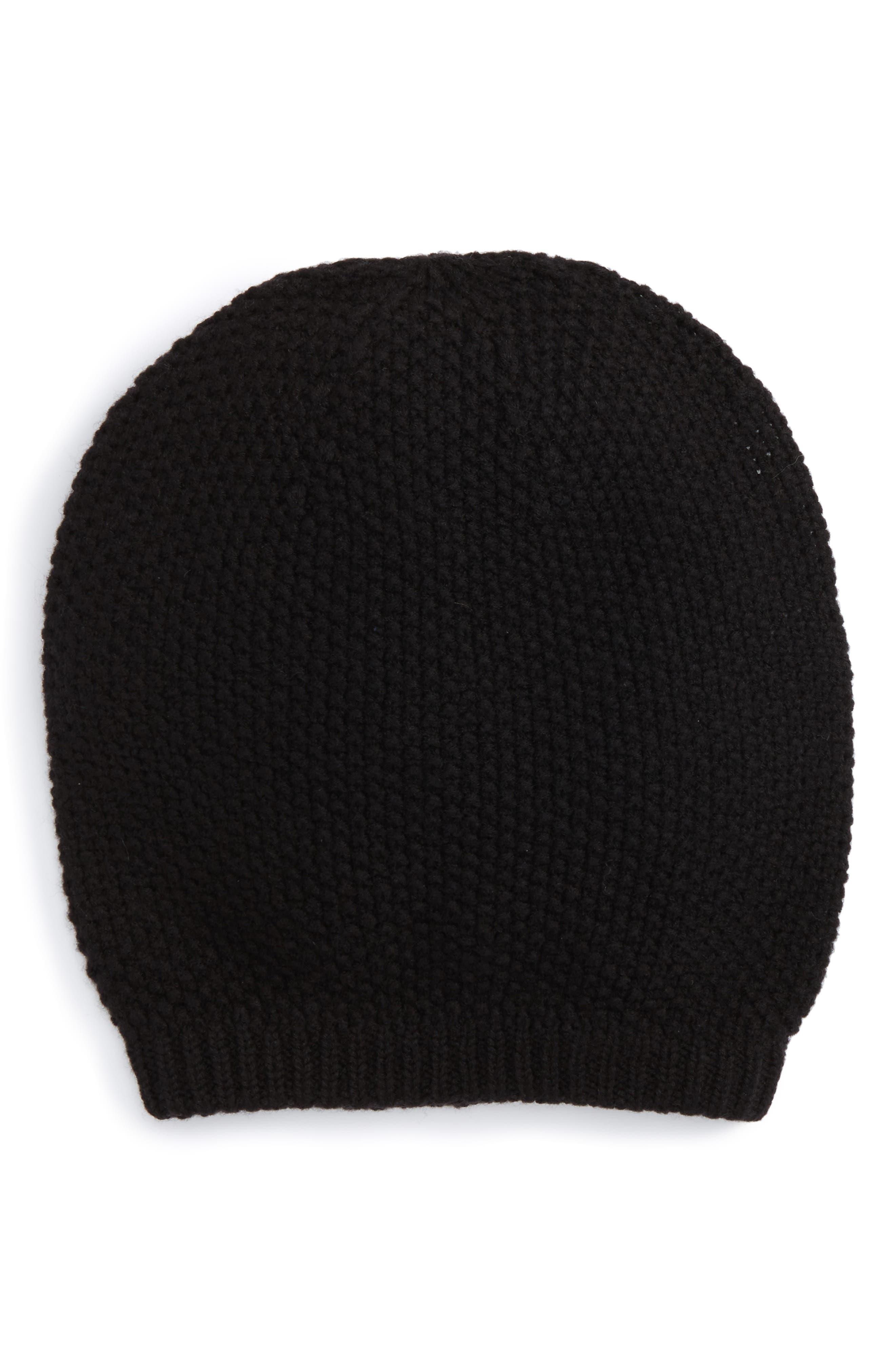 Knit Beanie,                         Main,                         color, Black