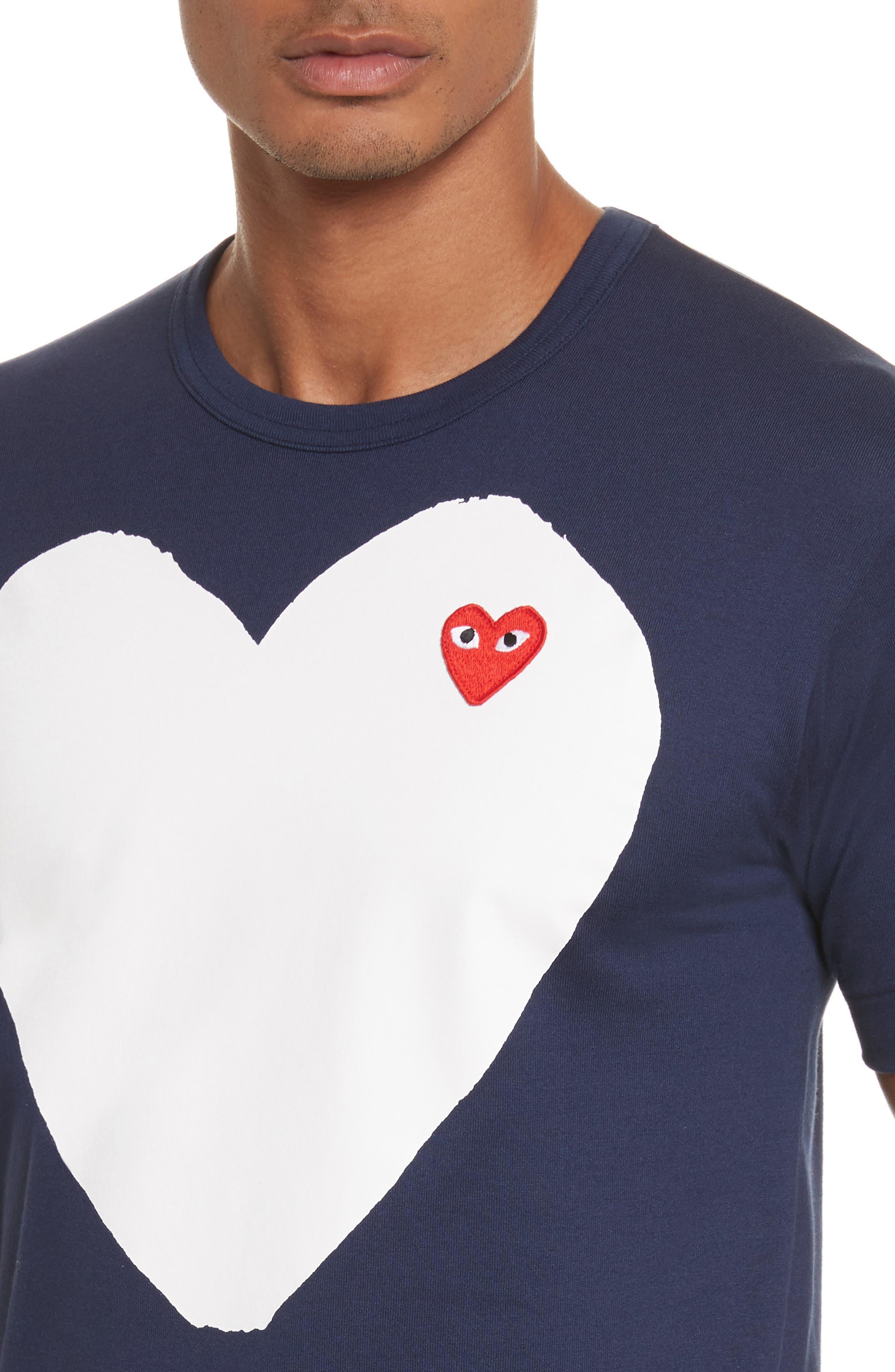 Alternate Image 4  - Comme des Garçons PLAY Graphic Patch T-Shirt