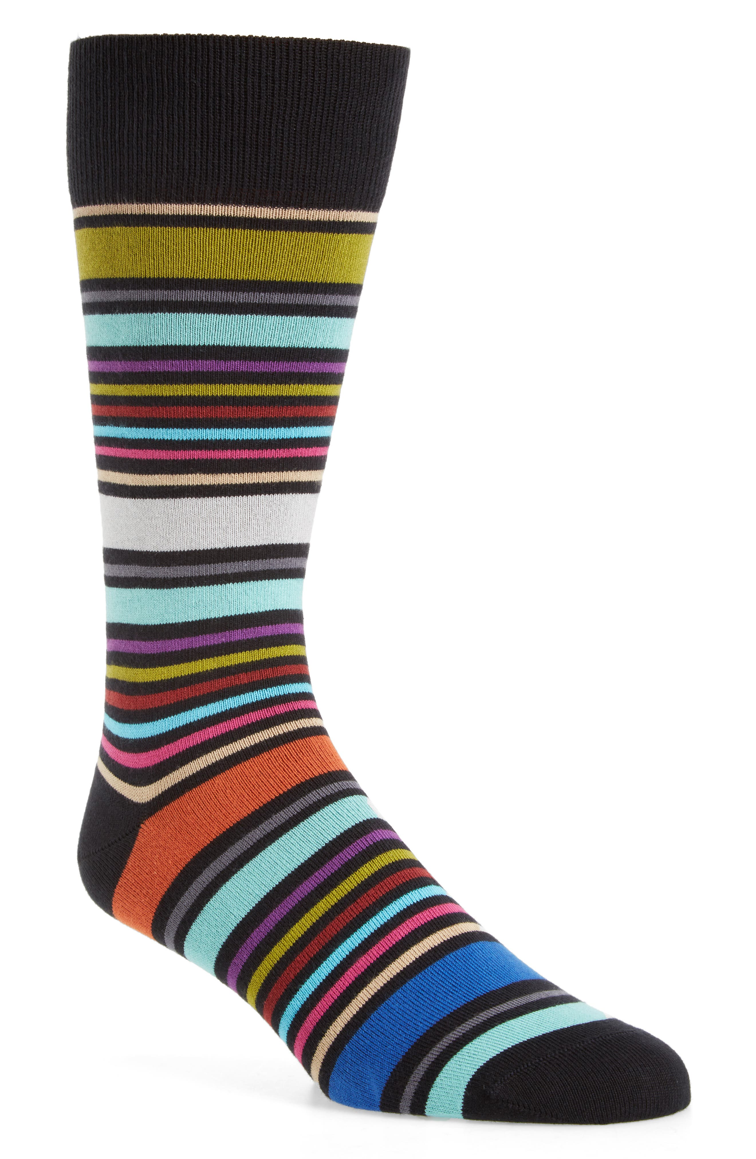Alternate Image 1 Selected - Paul Smith Wolfie Stripe Socks