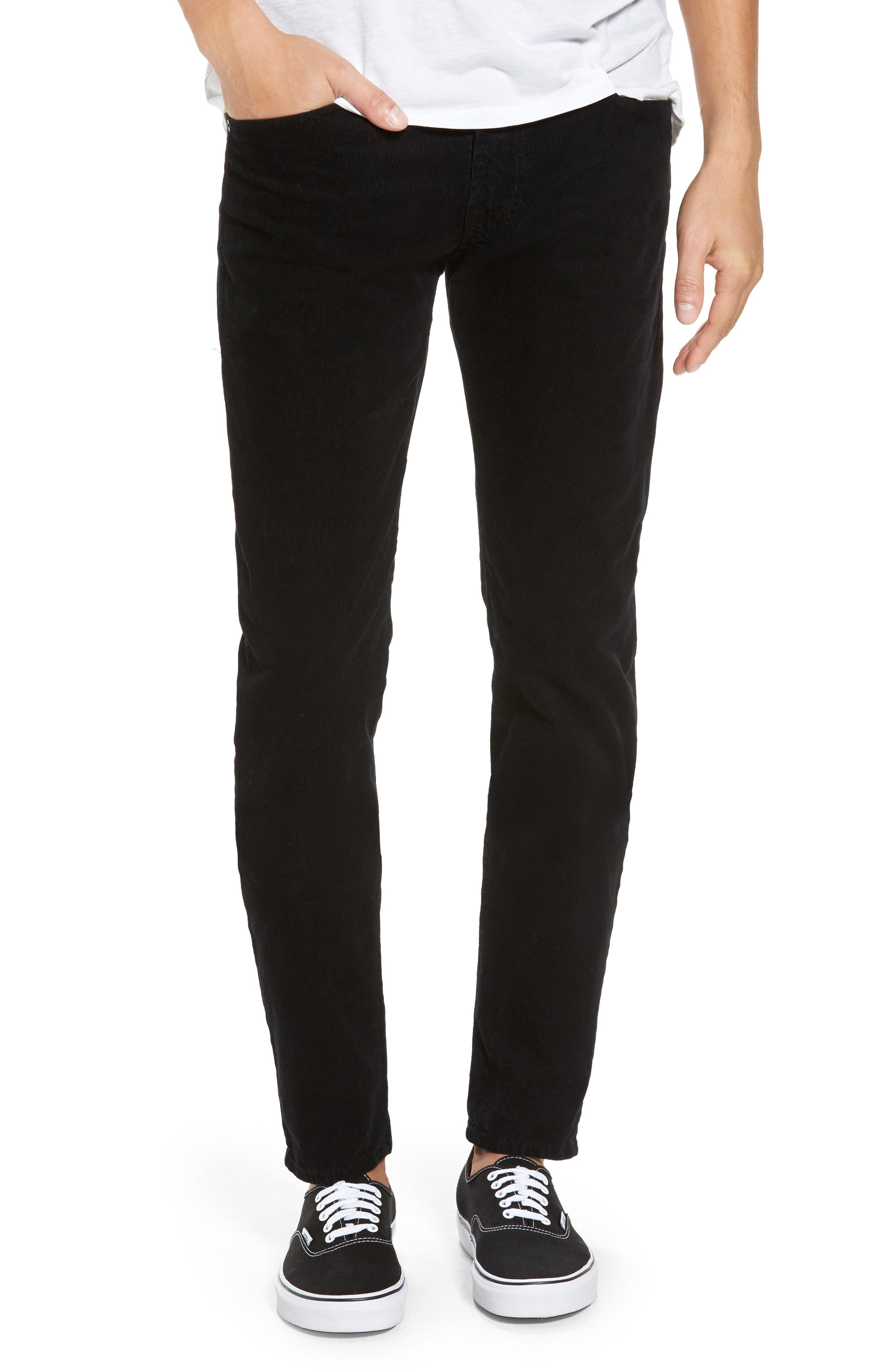 Dylan Skinny Fit Corduroy Pants,                         Main,                         color, Sulfur True Black
