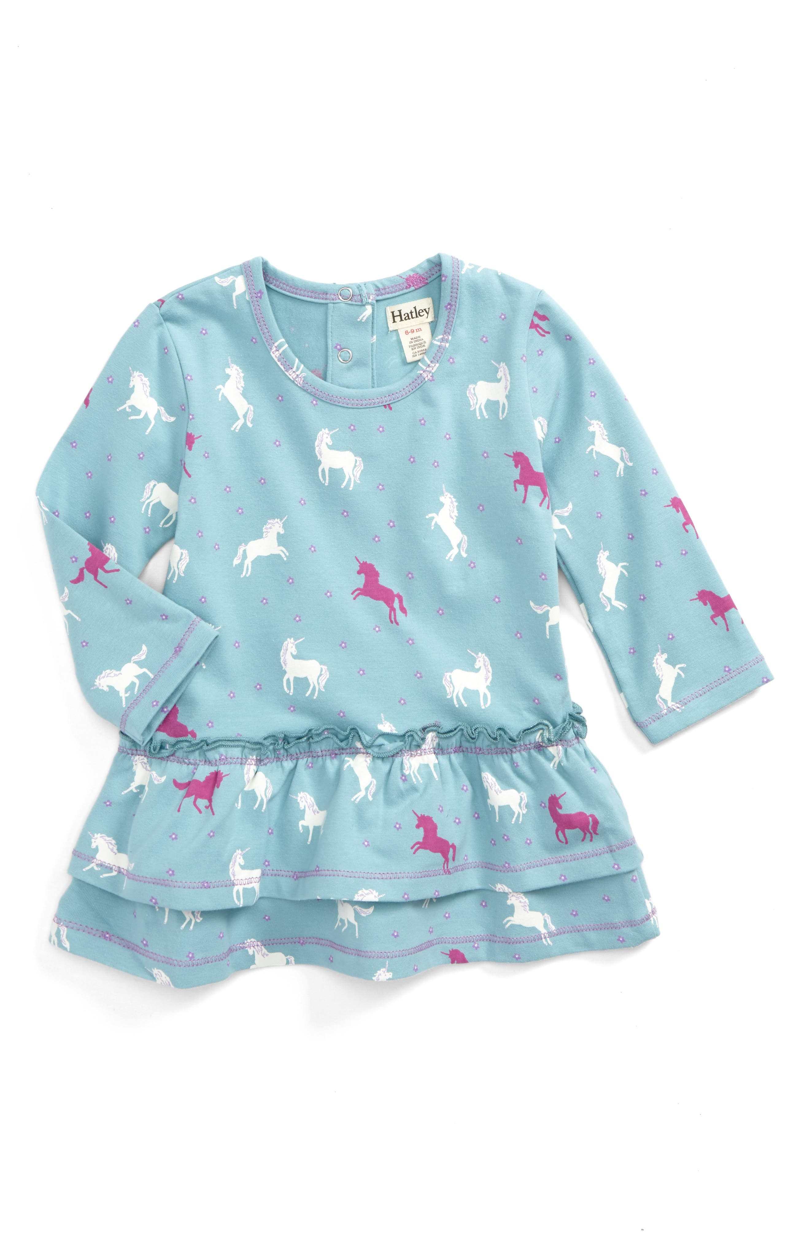 Alternate Image 1 Selected - Hatley Print Layered Dress (Baby Girls)