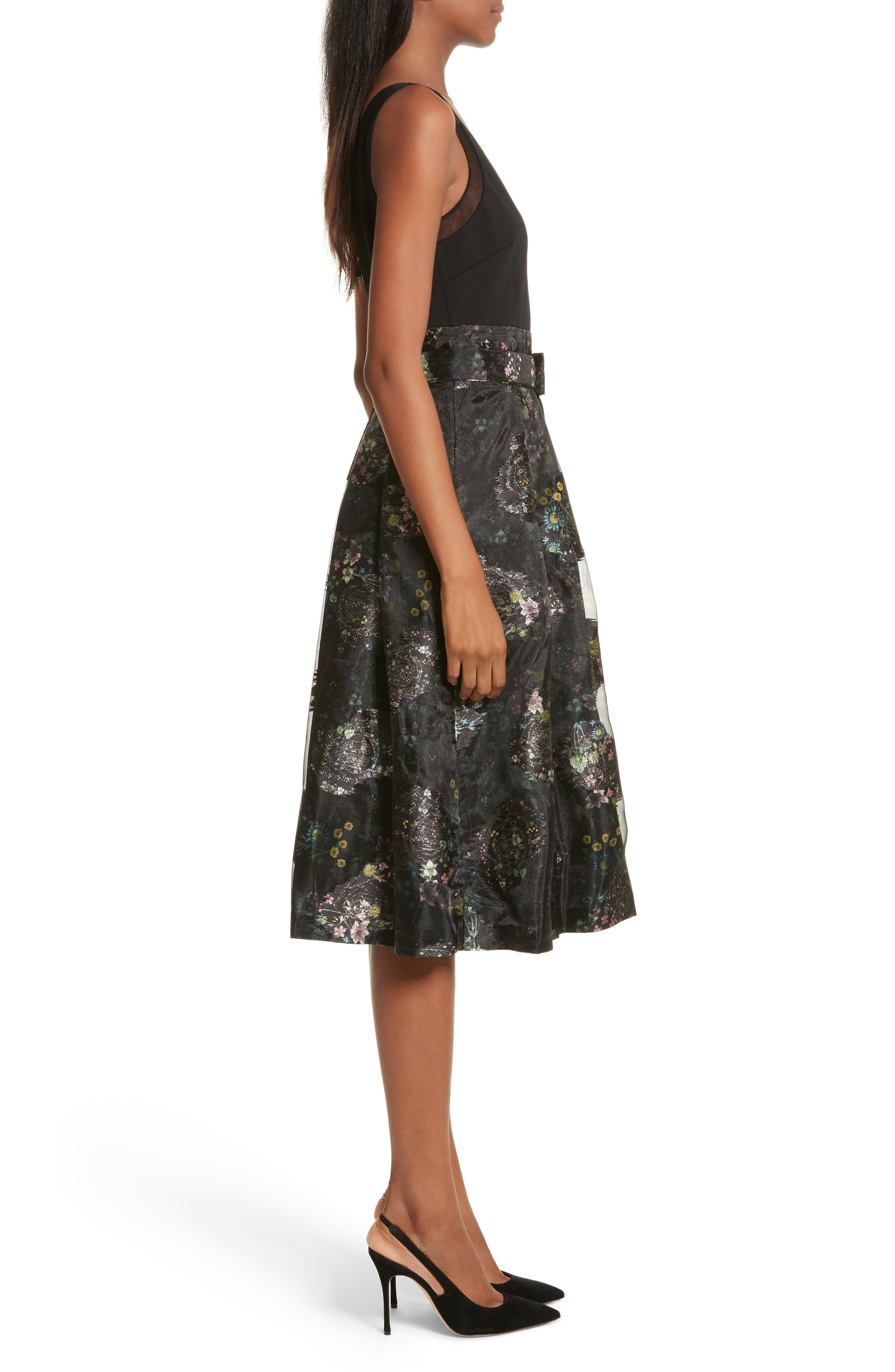 Alternate Image 3  - Ted Baker London Freay Metallic Floral Fit & Flare Dress