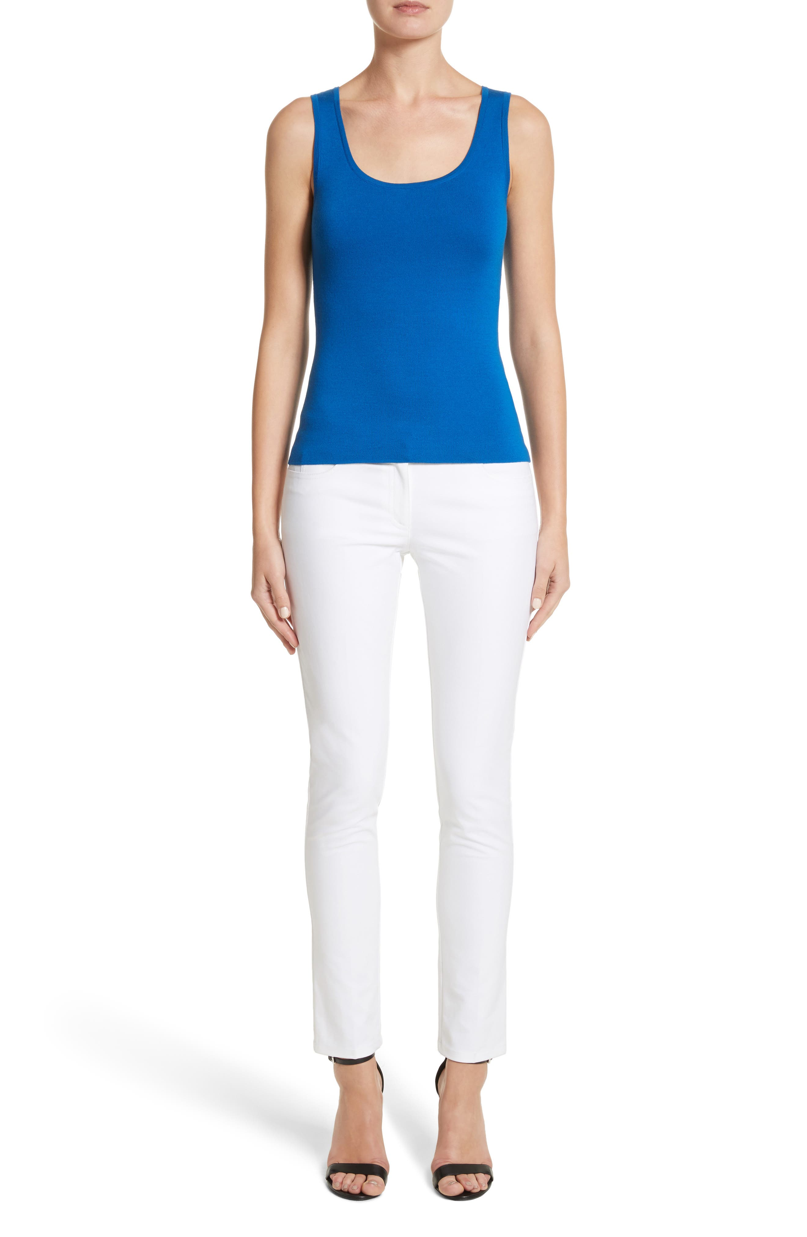 Alternate Image 9  - Michael Kors Samantha Skinny Jeans (Optic White)