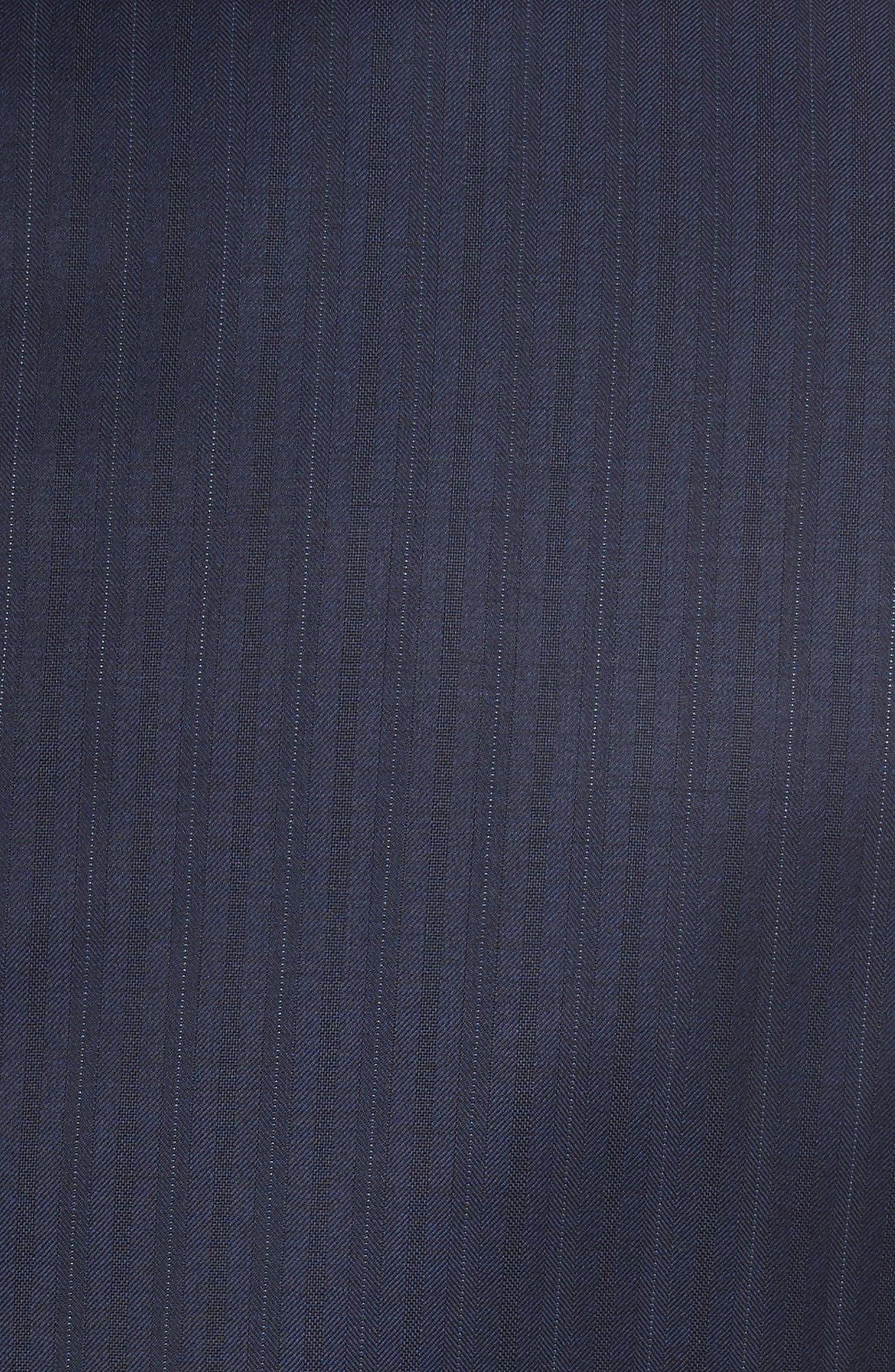 Alternate Image 7  - Armani Collezioni G-Line Trim Fit Stripe Wool Suit