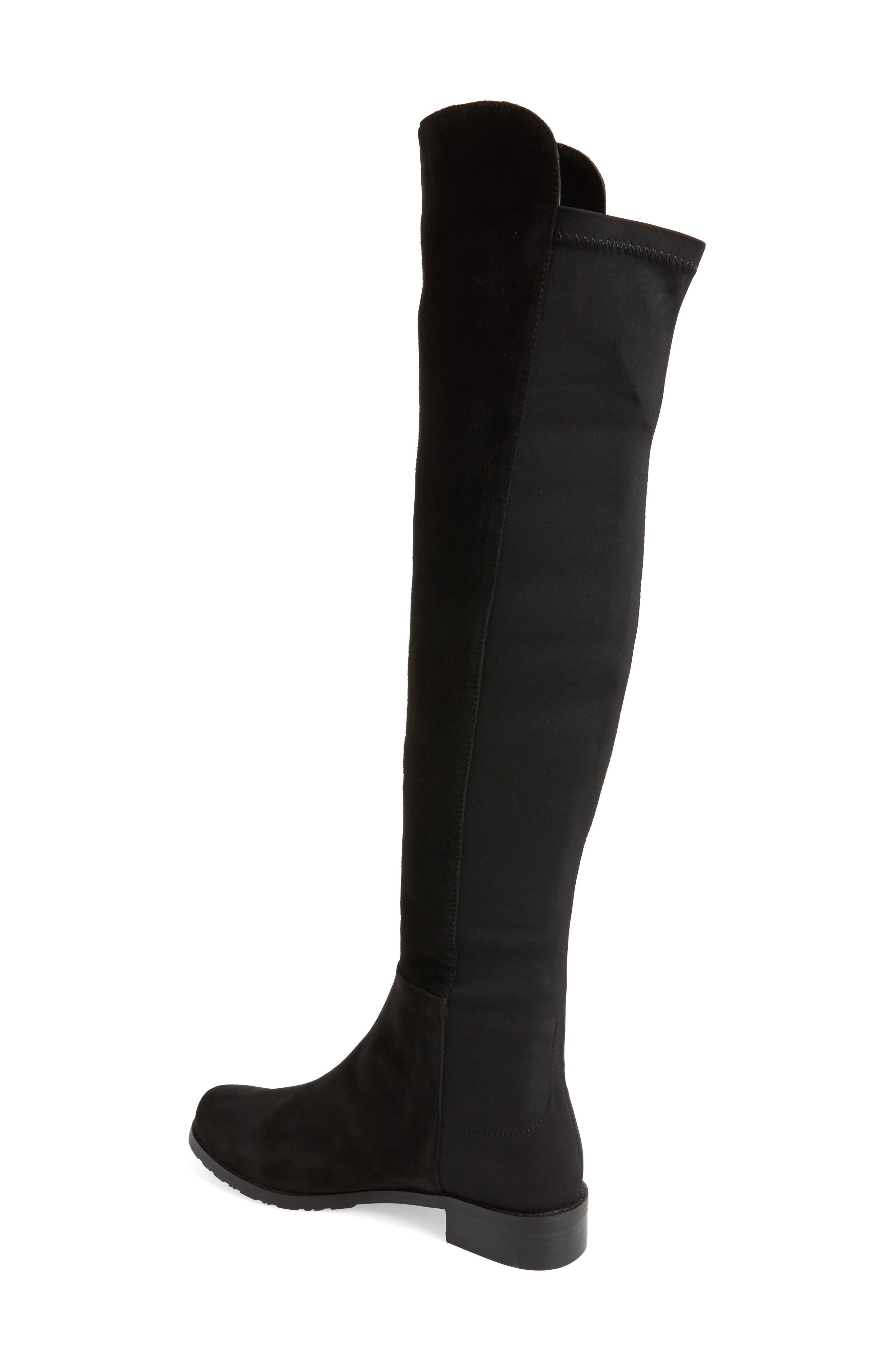 Panache Tall Boot,                             Alternate thumbnail 2, color,                             Black Suede