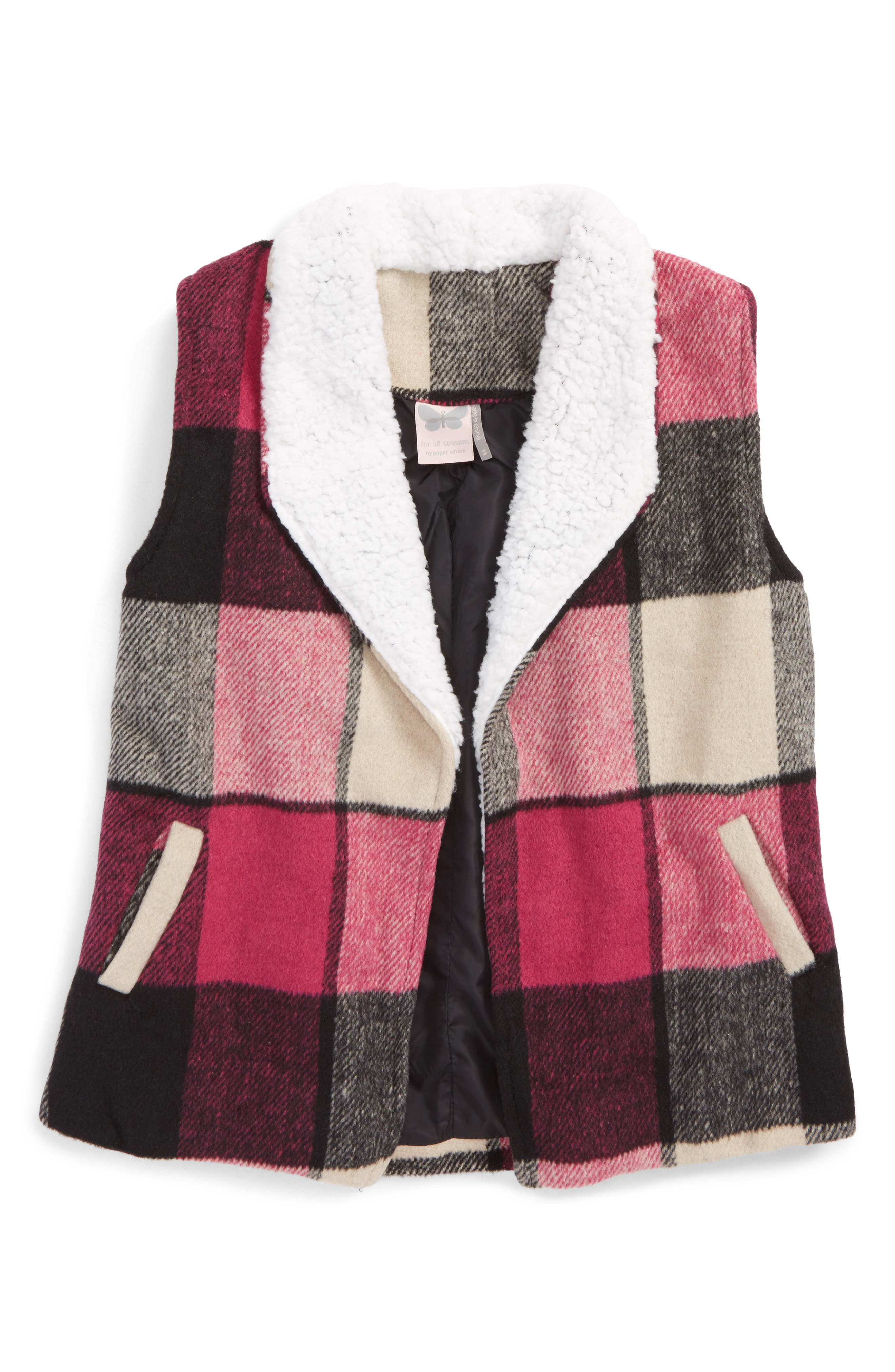 Main Image - For All Seasons Check Vest