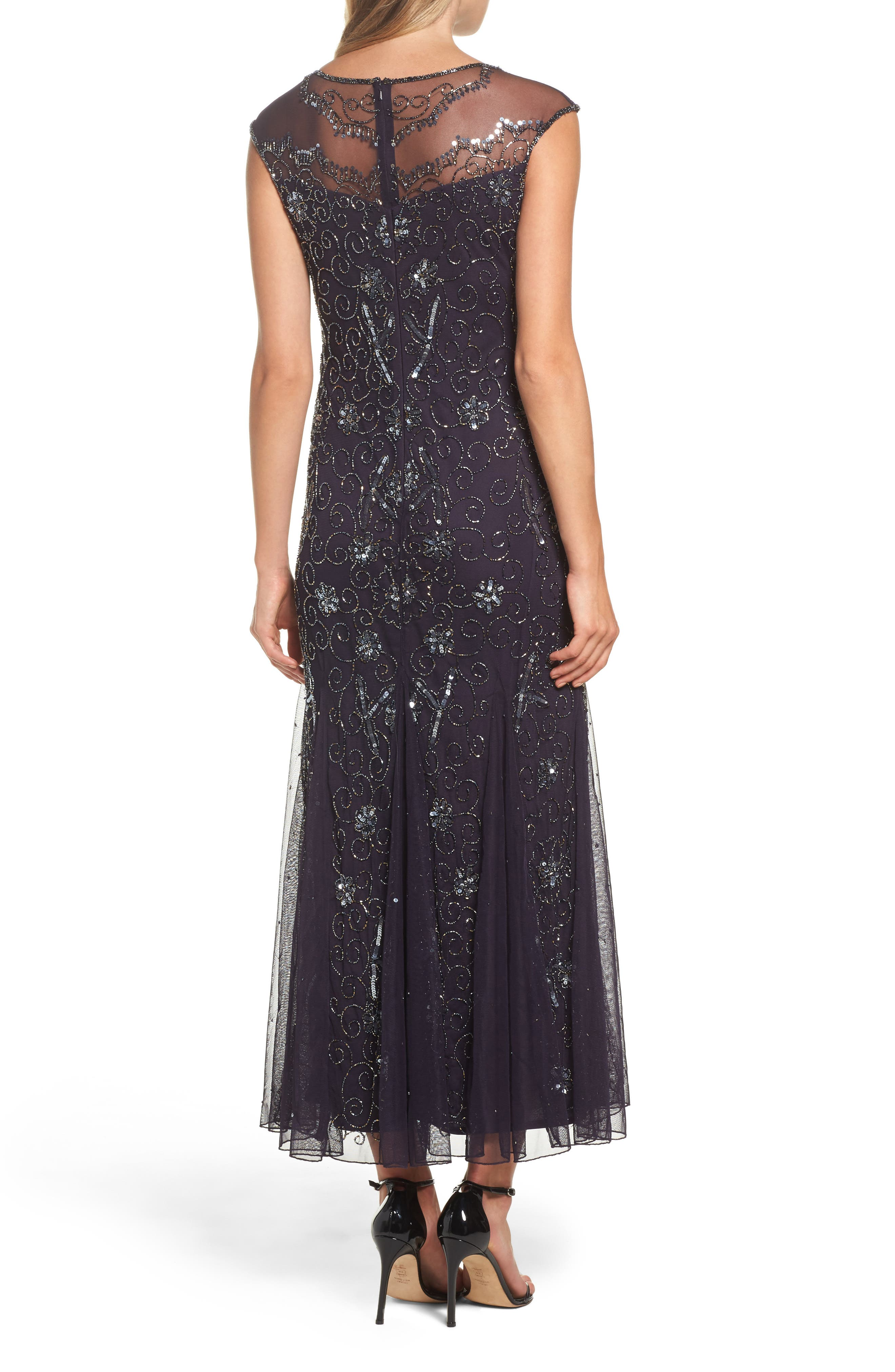 Alternate Image 2  - Pisarro Nights Embellished Midi Dress (Regular & Petite)