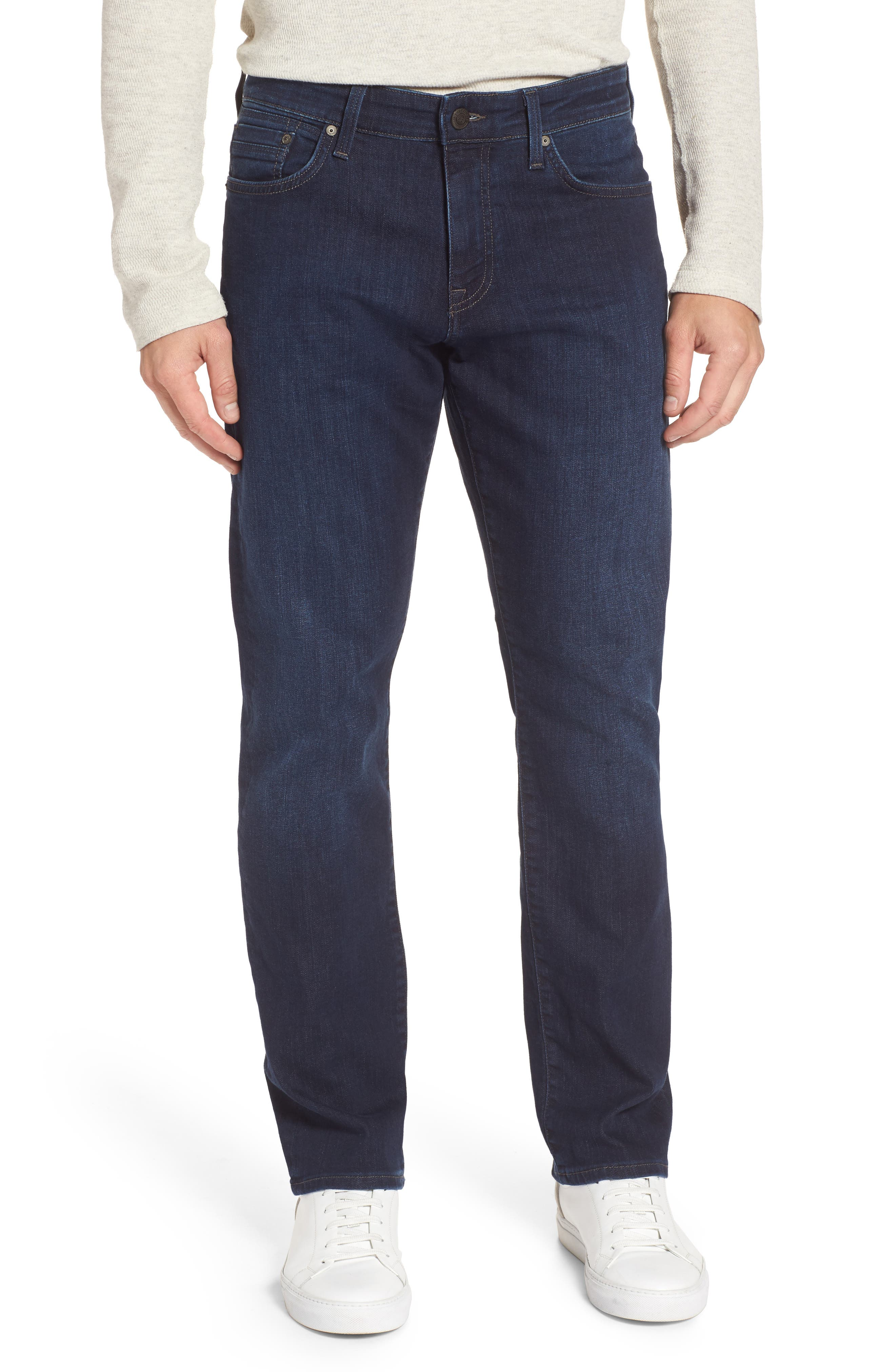 Myles Straight Fit Jeans,                             Main thumbnail 1, color,                             Deep Clean Comfort