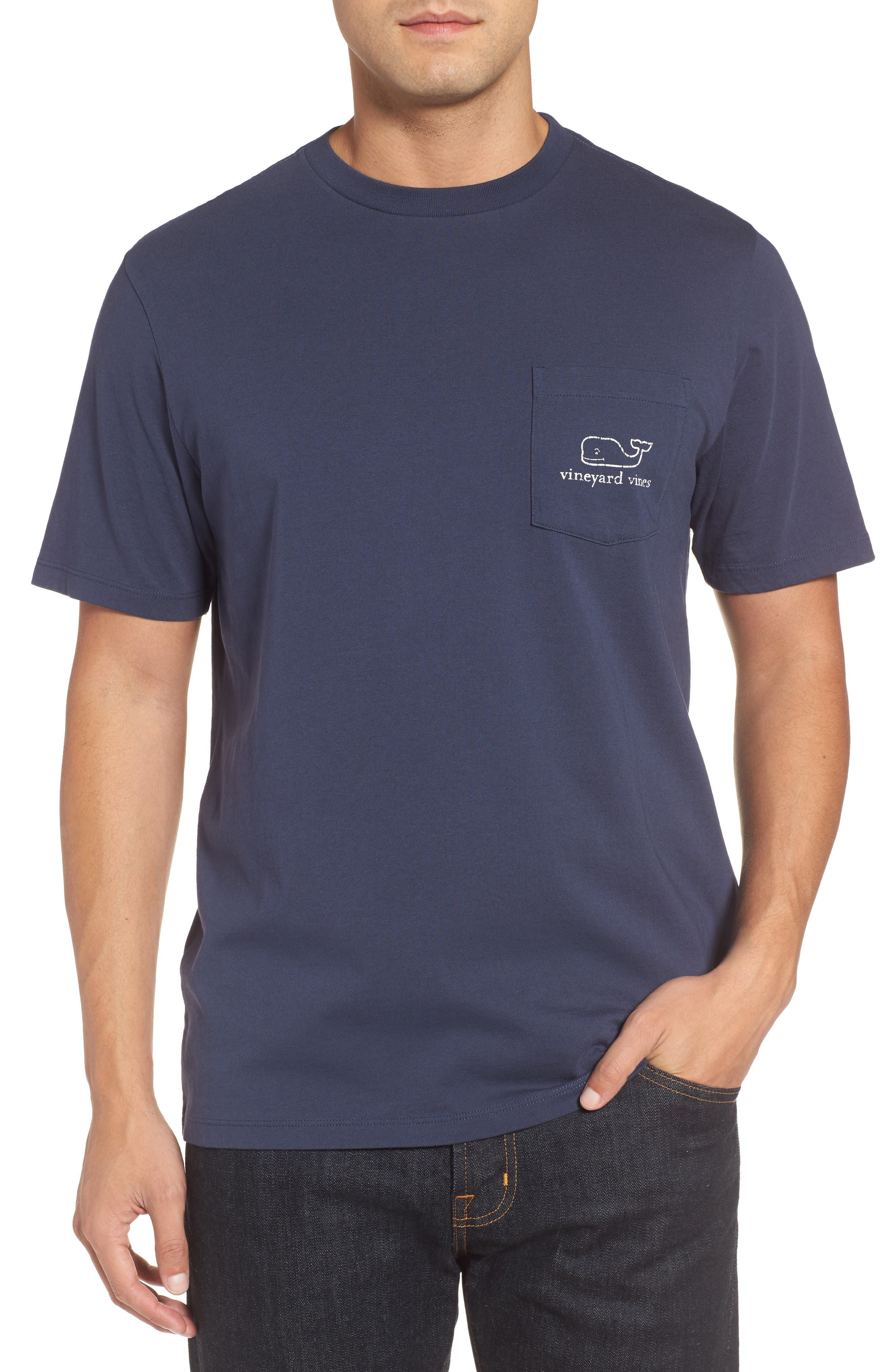 Alternate Image 2  - vineyard vines Vintage Whale Pocket T-Shirt