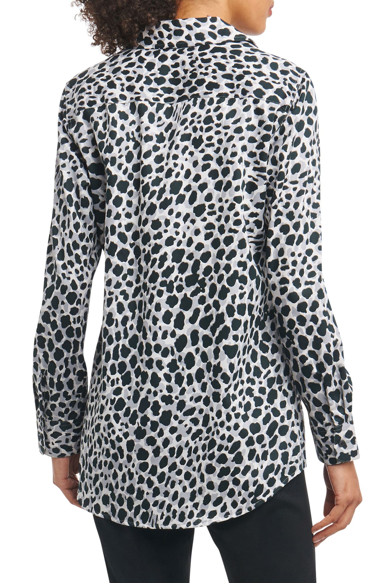 Alternate Image 2  - Foxcroft Fay Animal Print Shirt