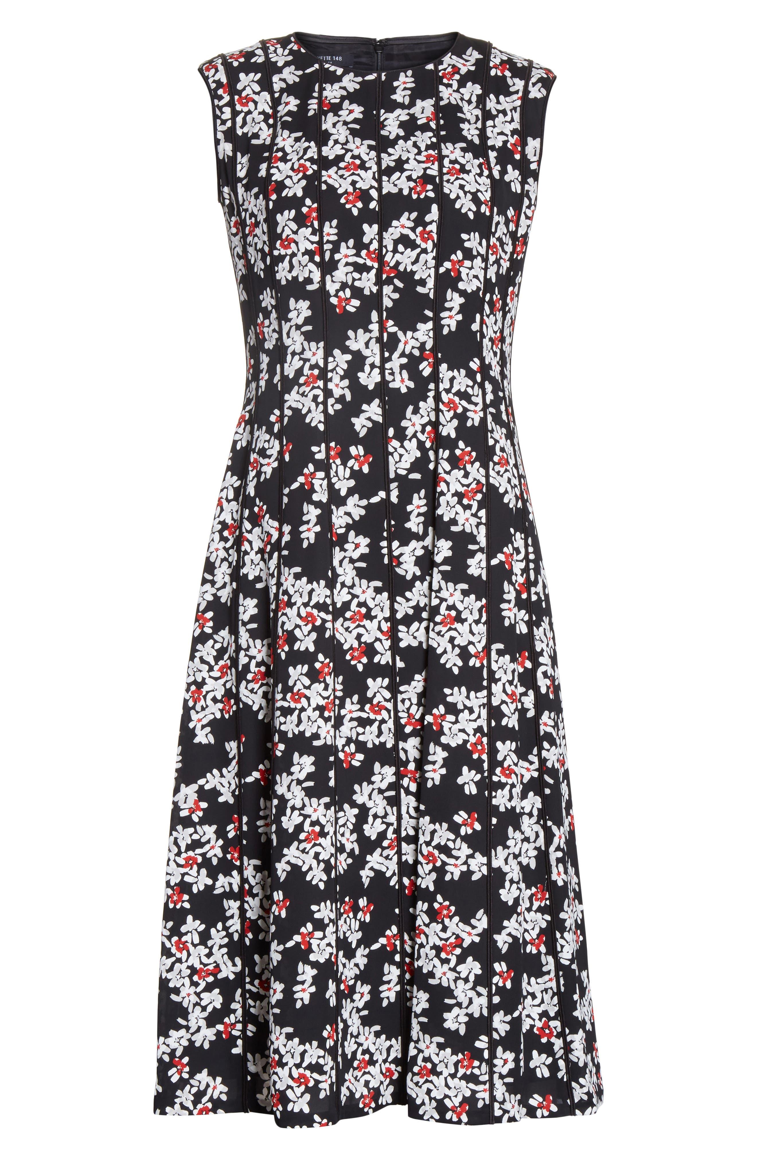 Alternate Image 6  - Lafayette 148 New York Marley Fresh Floral Drape Cloth Dress