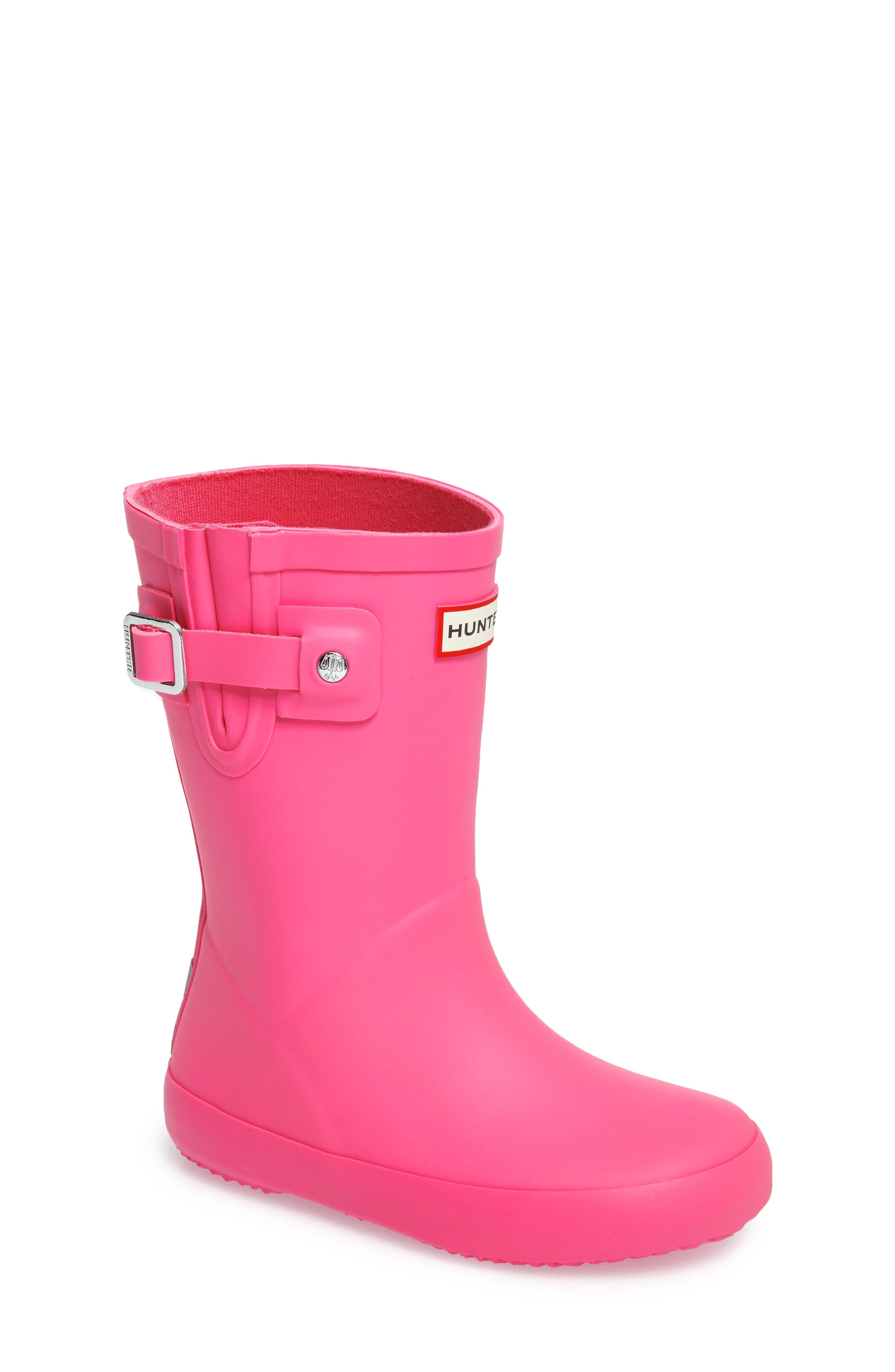 Hunter Buckle Strap Rain Boot (Toddler)
